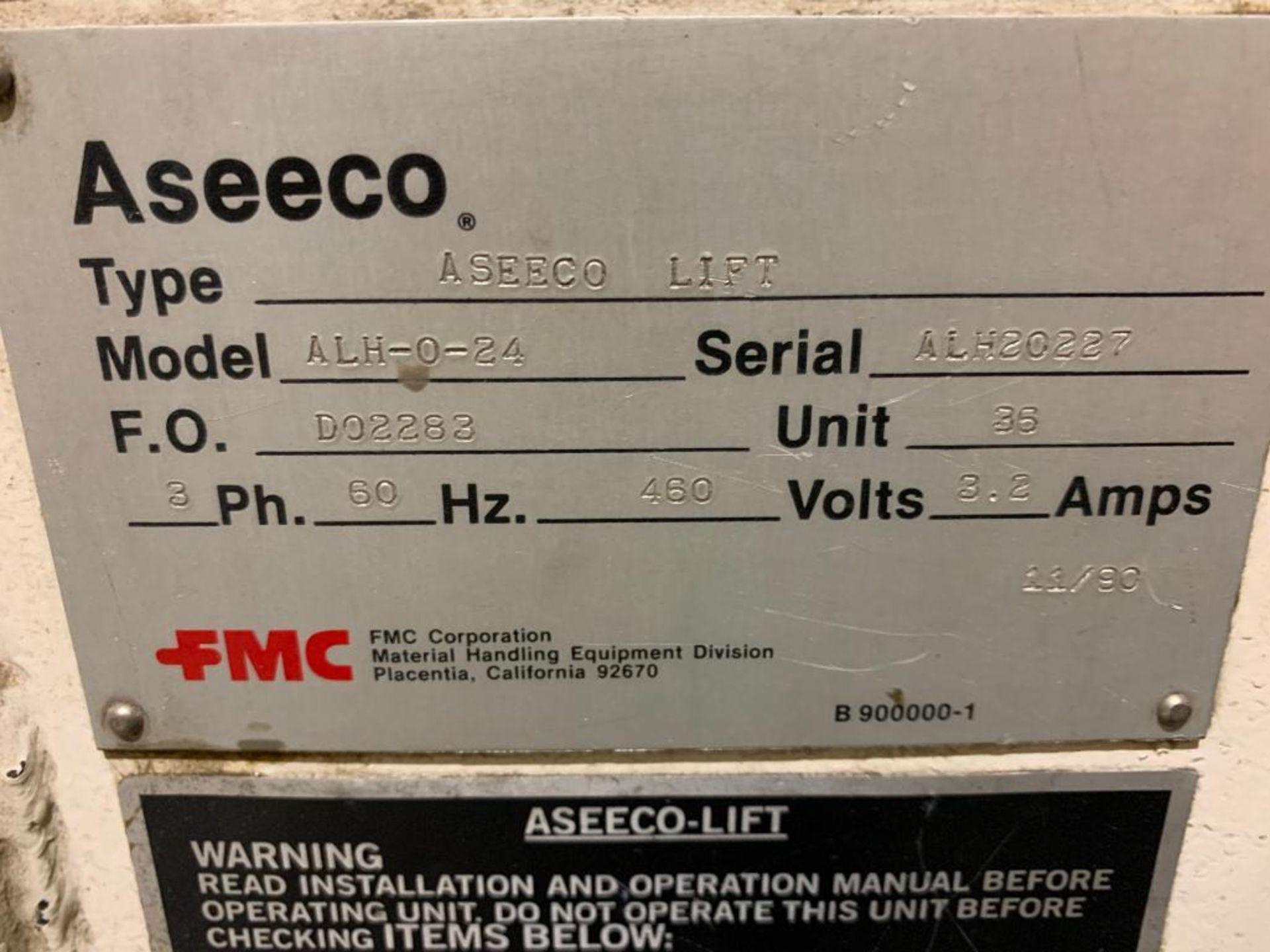 1990 Aseeco horizontal bucket elevator, model ALH-0-24 - Image 4 of 12