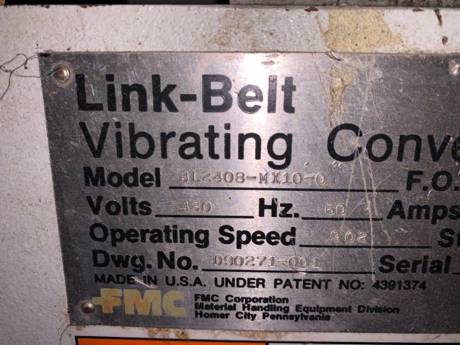 1993 Link-Belt stainless steel vibratory scalping conveyor - Image 3 of 10