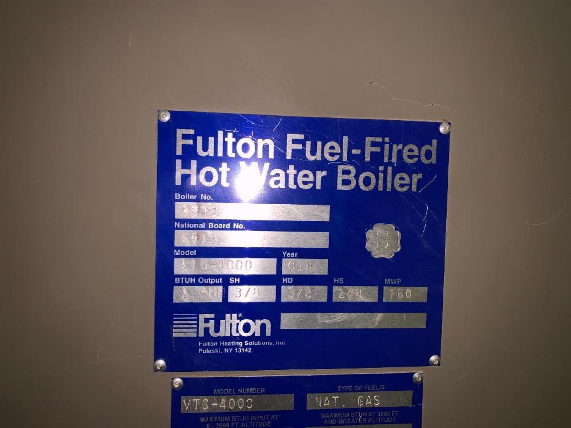 2010 Fulton fuel fired hot water boiler - Image 15 of 15