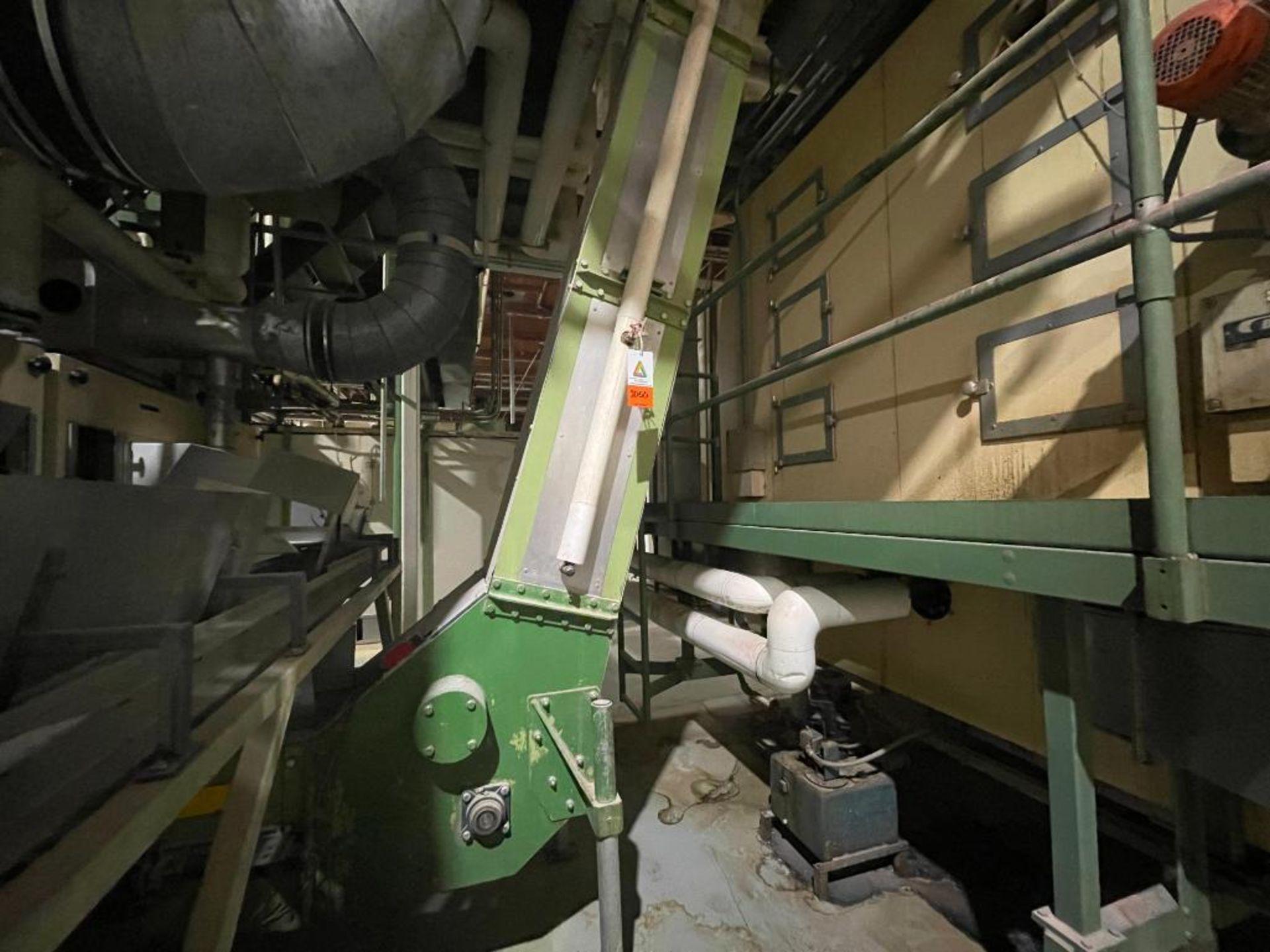 mild steel incline overlapping bucket conveyor