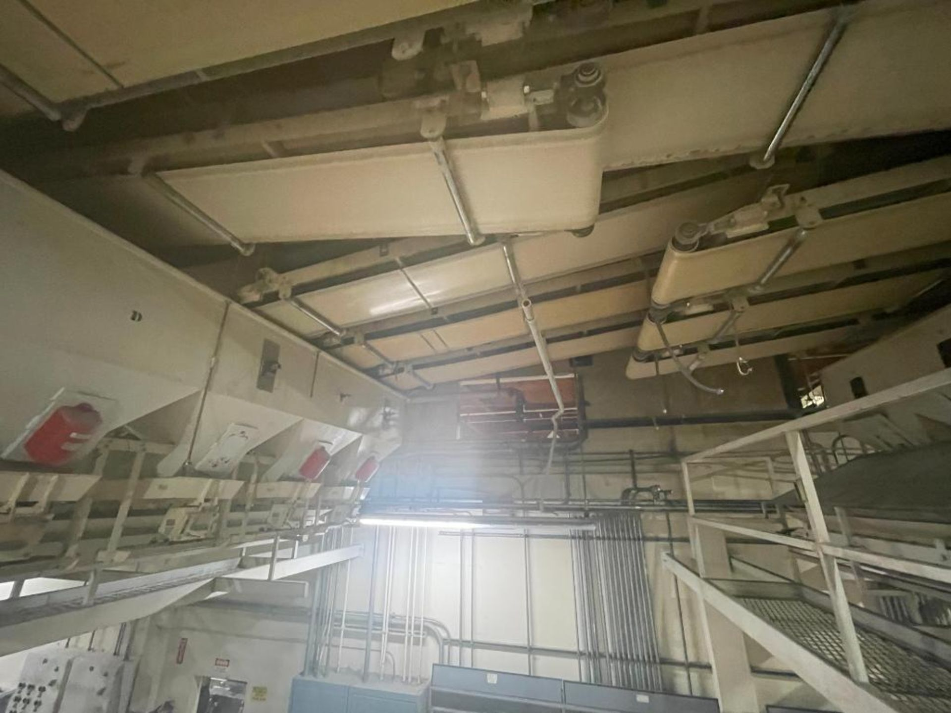 5 overhead conveyors, white rubber belt - Image 4 of 9