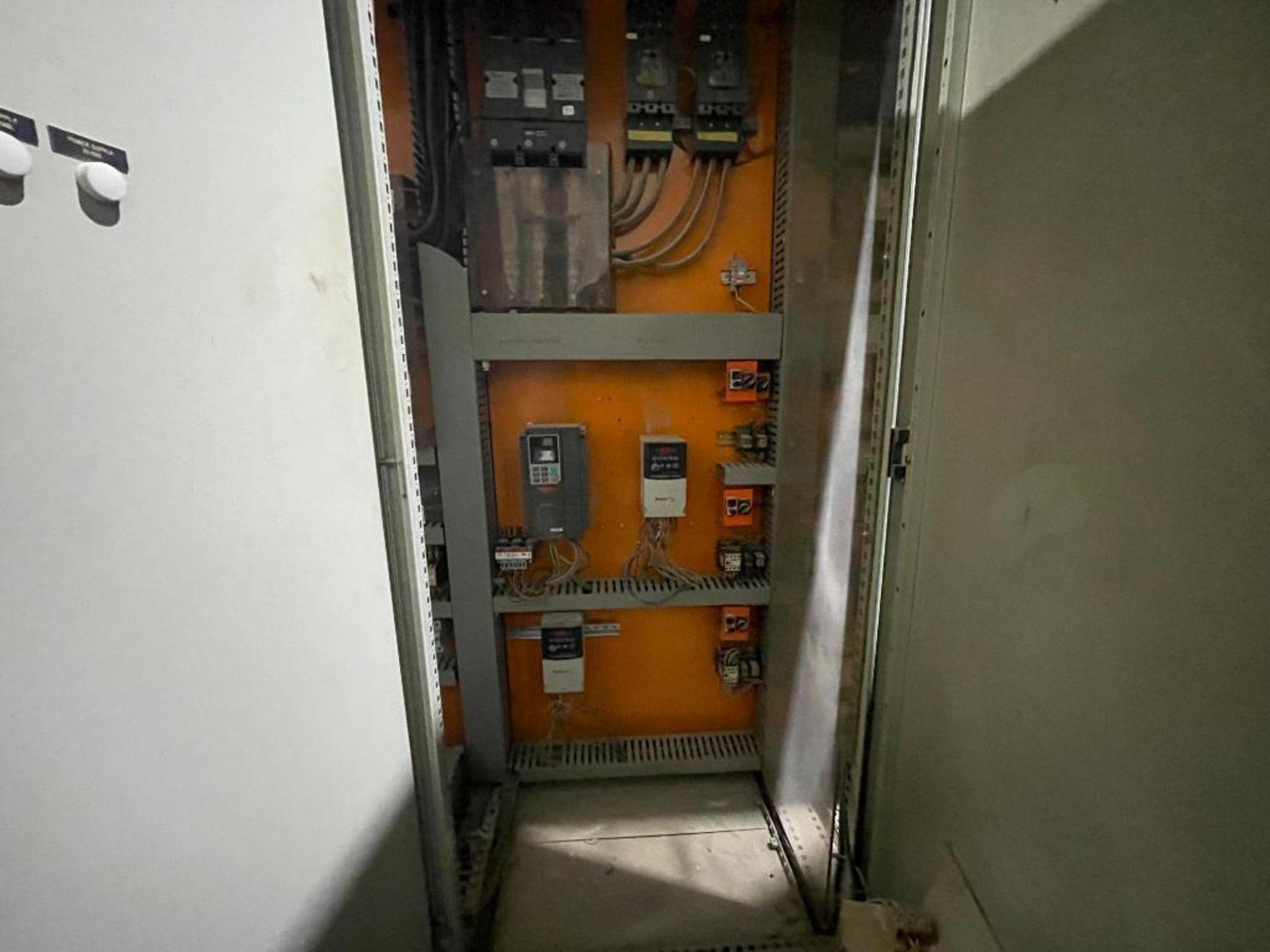 7-door mild steel air conditioned control cabinet, 5-VFD's - Image 18 of 43
