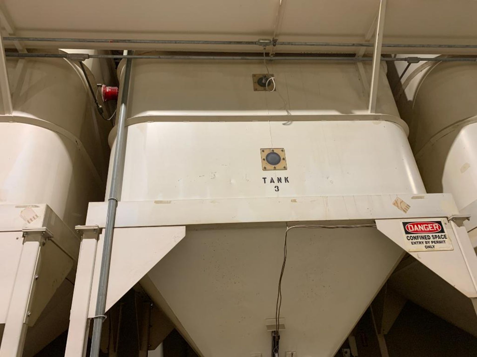 Aseeco mild steel cone bottom bulk storage bin - Image 2 of 22