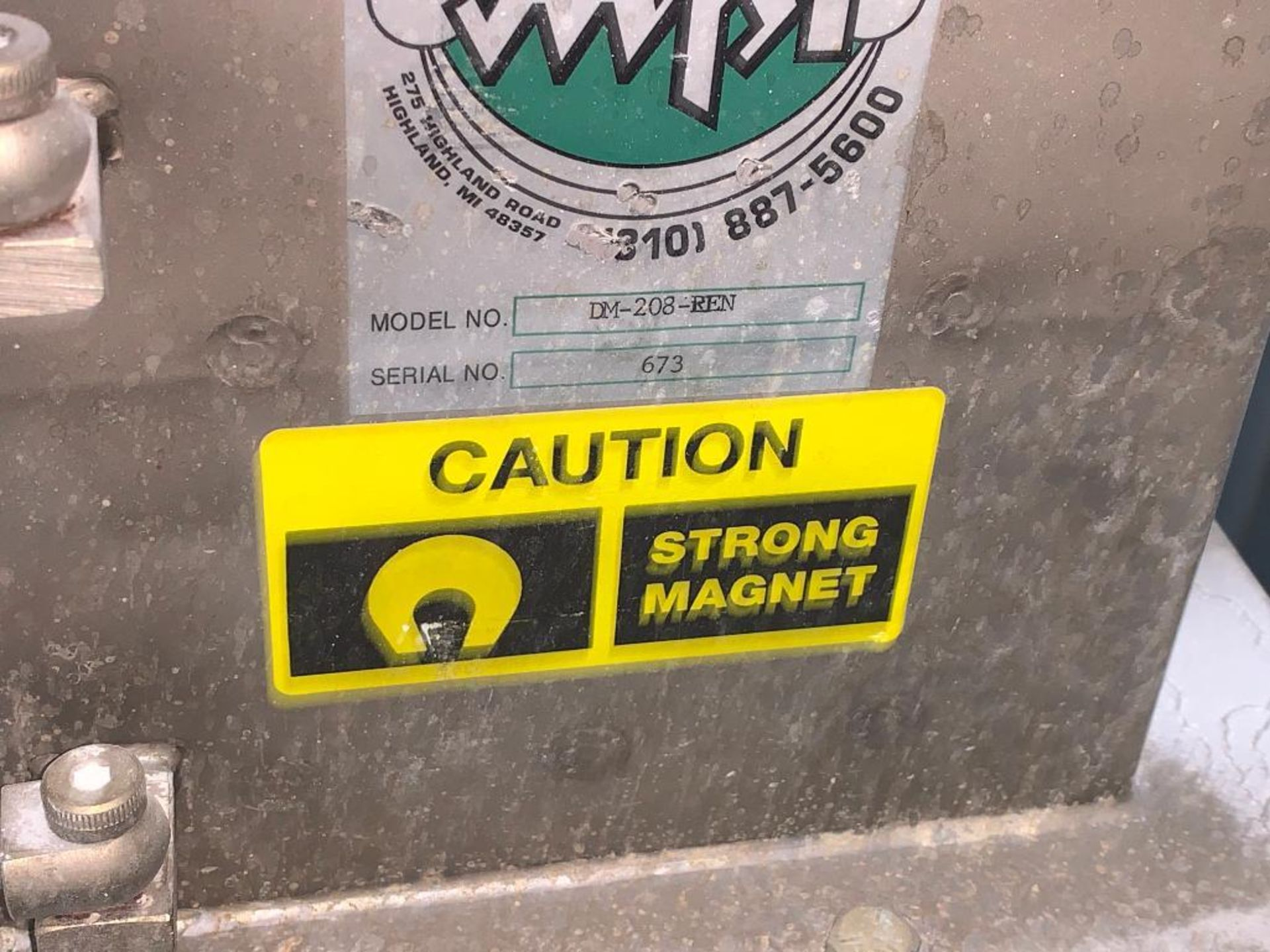 Magnetic Products Inc 8 in. flow through magnet - Image 2 of 4
