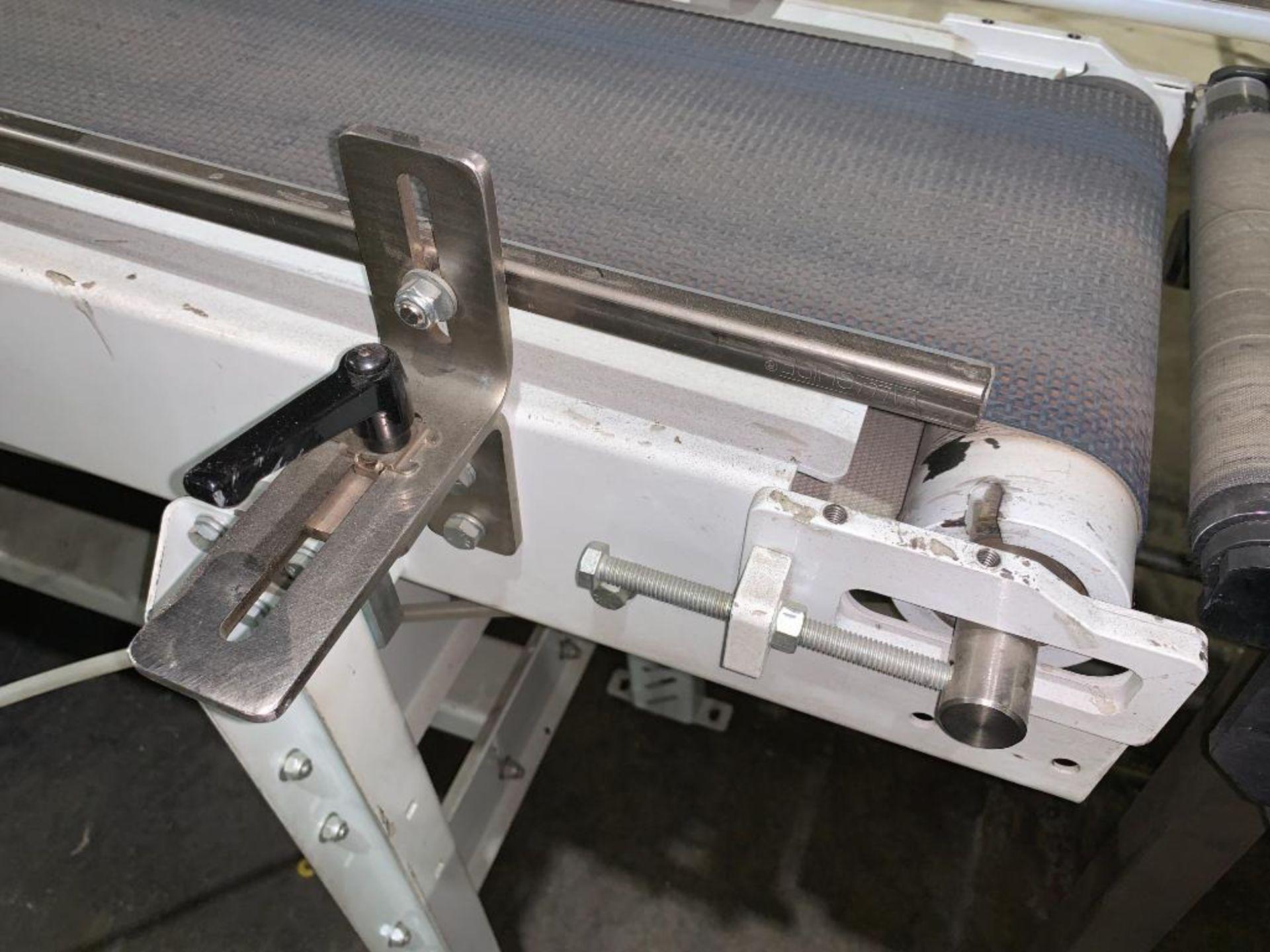 mild steel belt conveyor, 68 in. x 10 in., with box conditioner - Image 4 of 13