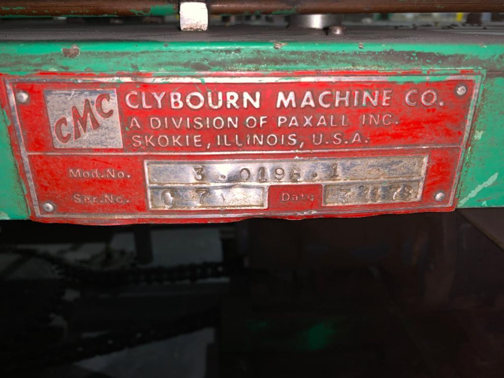 1978 Clybourn carton erecting filling closing machine - Image 12 of 68