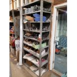 shelf, sprockets, gears, belts, and various parts