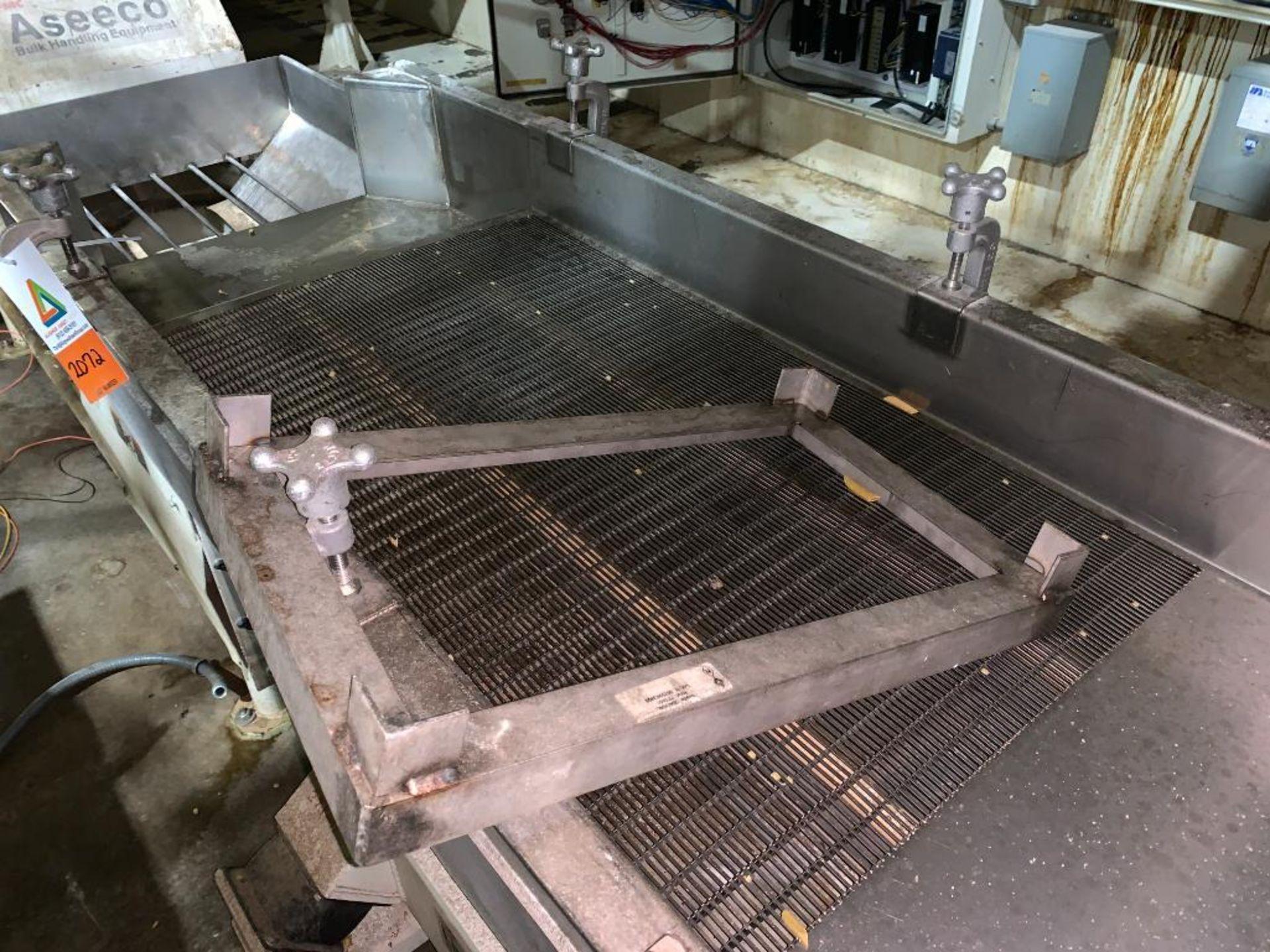 1993 Link-Belt stainless steel vibratory scalping conveyor - Image 8 of 10