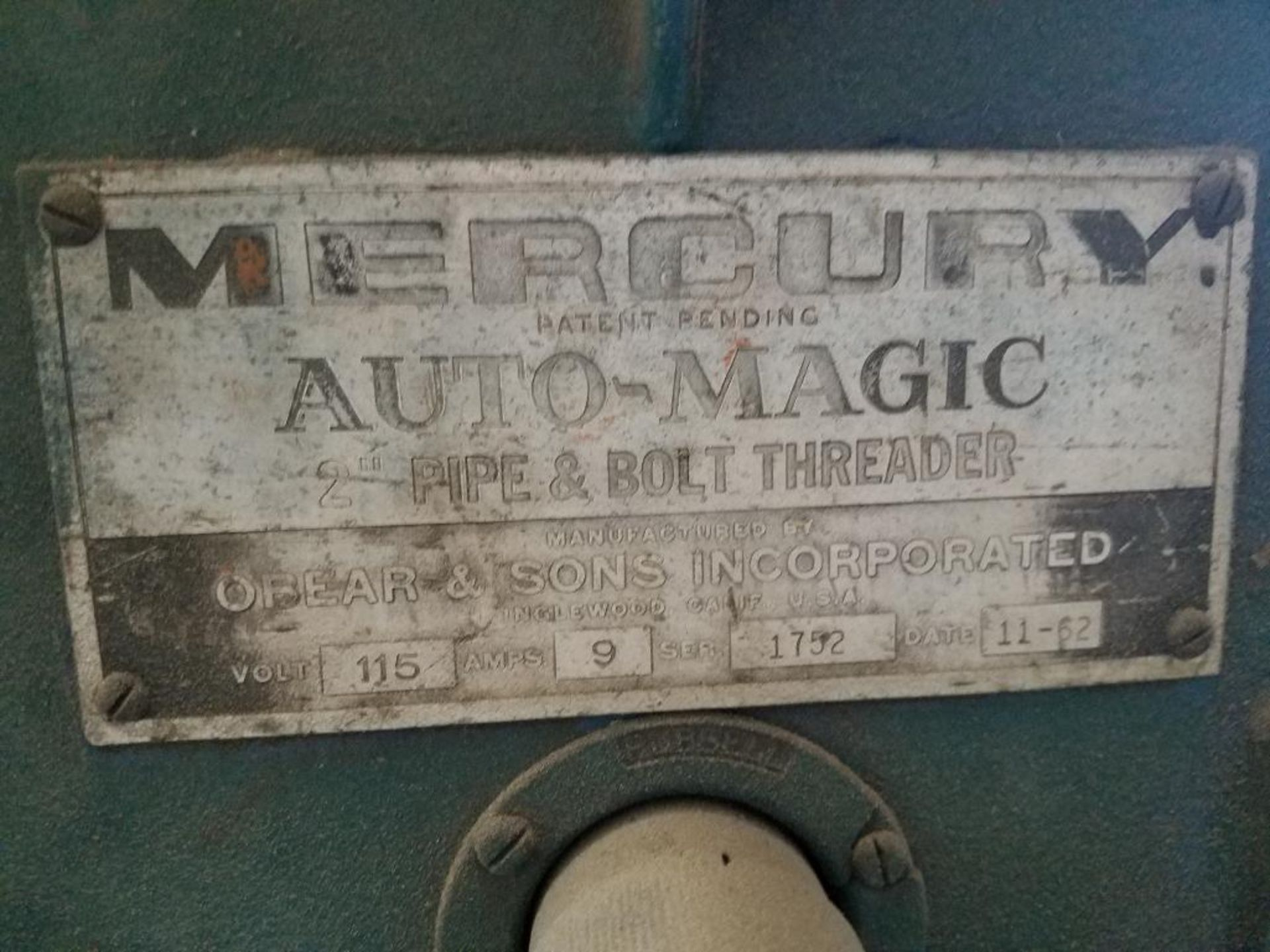 1962 Mercury pipe and bolt threader - Image 2 of 5