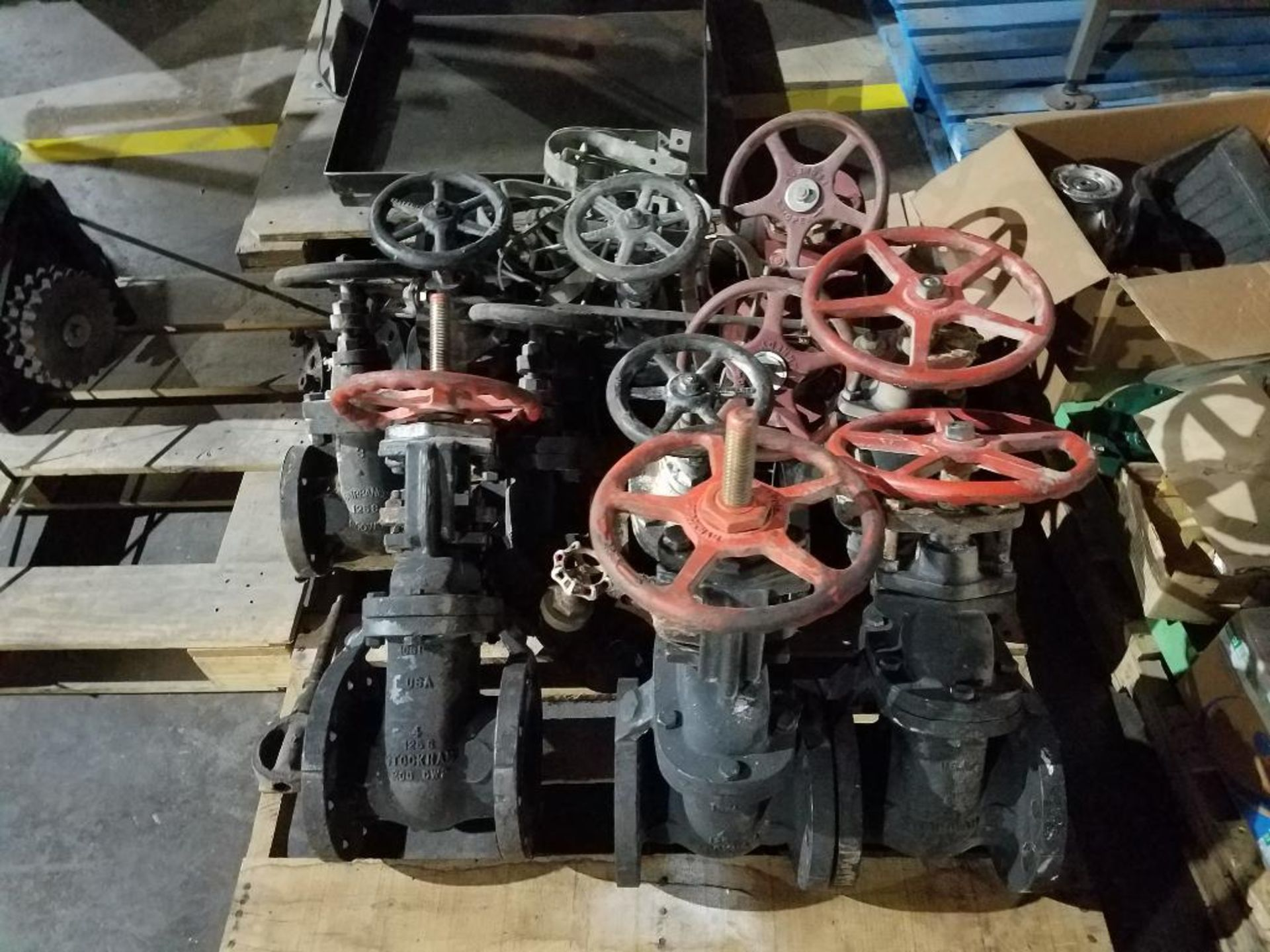 various replacement parts, motors, fire sprinkler valves - Image 2 of 3