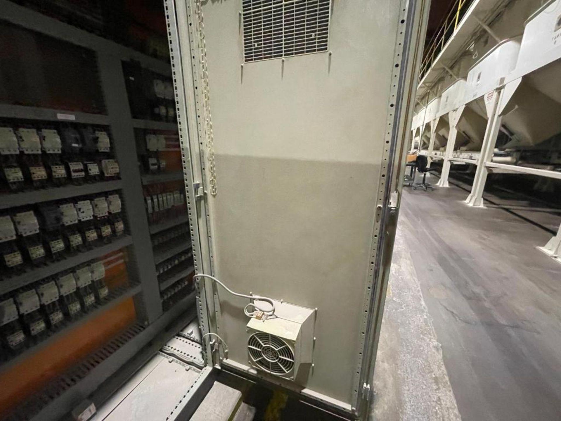 7-door mild steel air conditioned control cabinet, 5-VFD's - Image 34 of 43