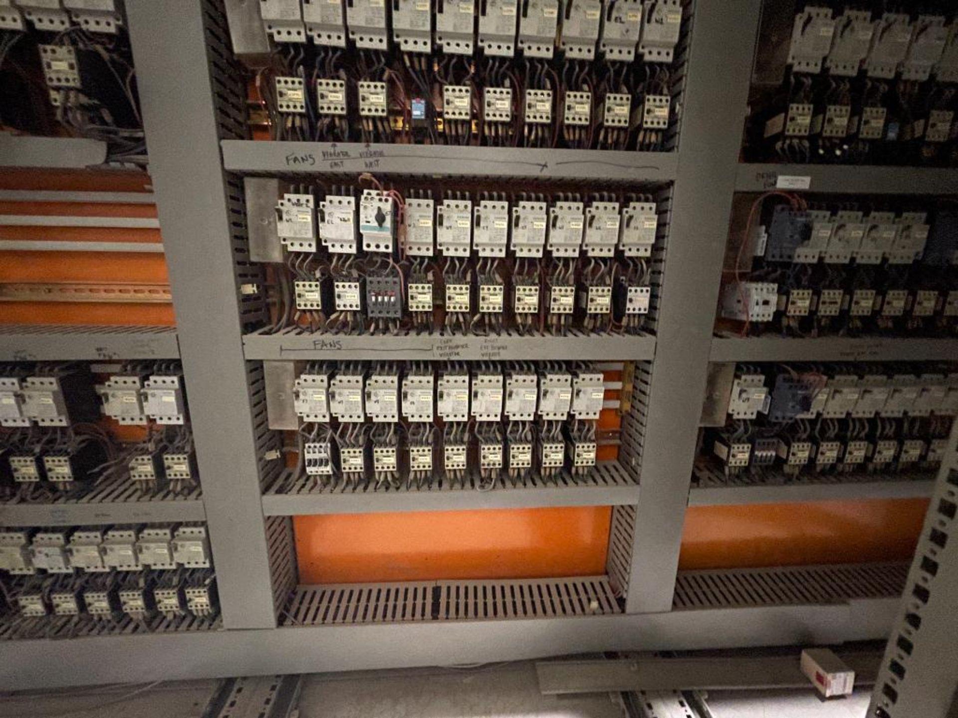 7-door mild steel air conditioned control cabinet, 5-VFD's - Image 31 of 43