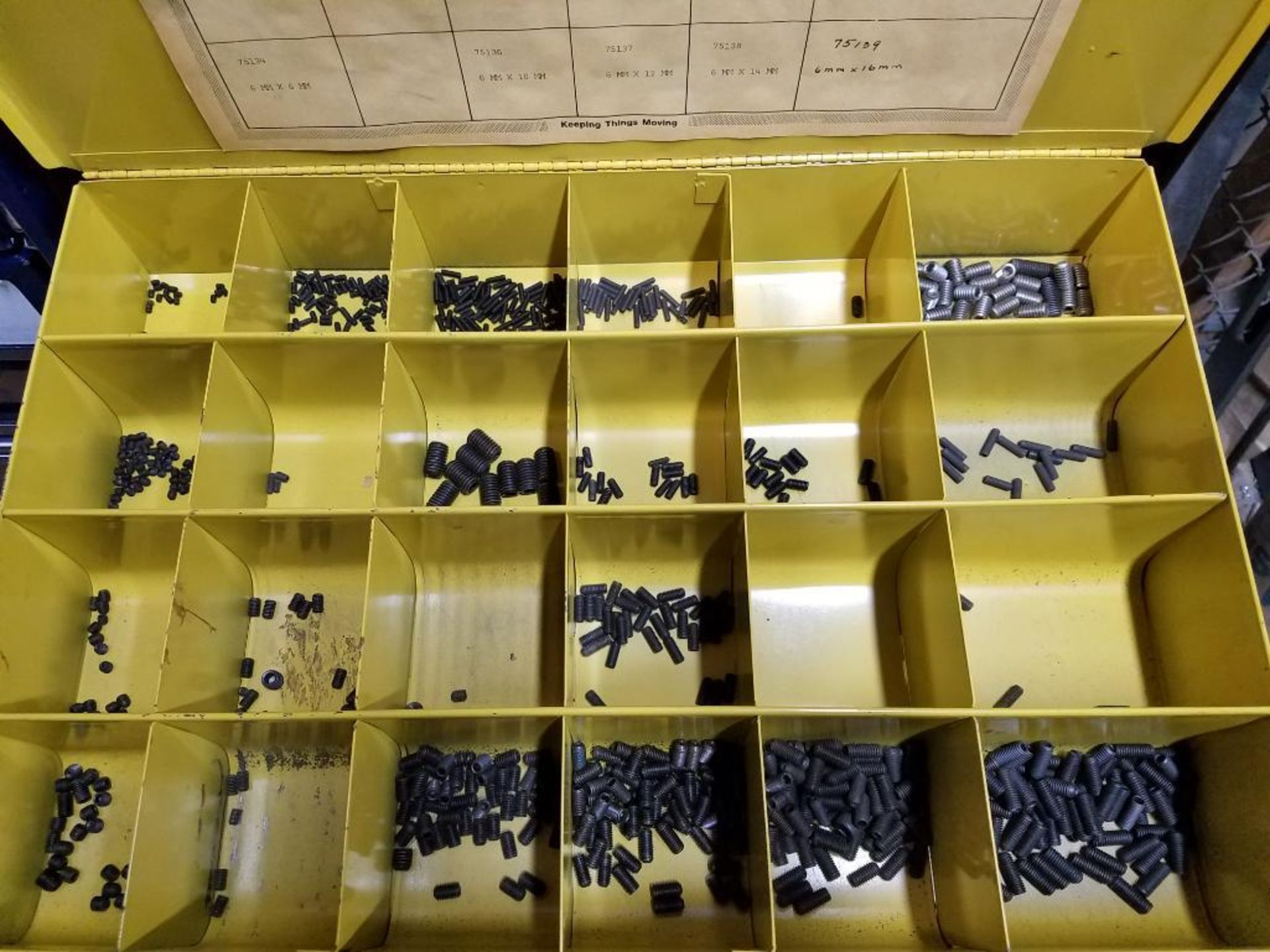 tek screws, roll and taper pins, electrical terminals, set screws, O-rings, brass poly fittings - Image 9 of 29