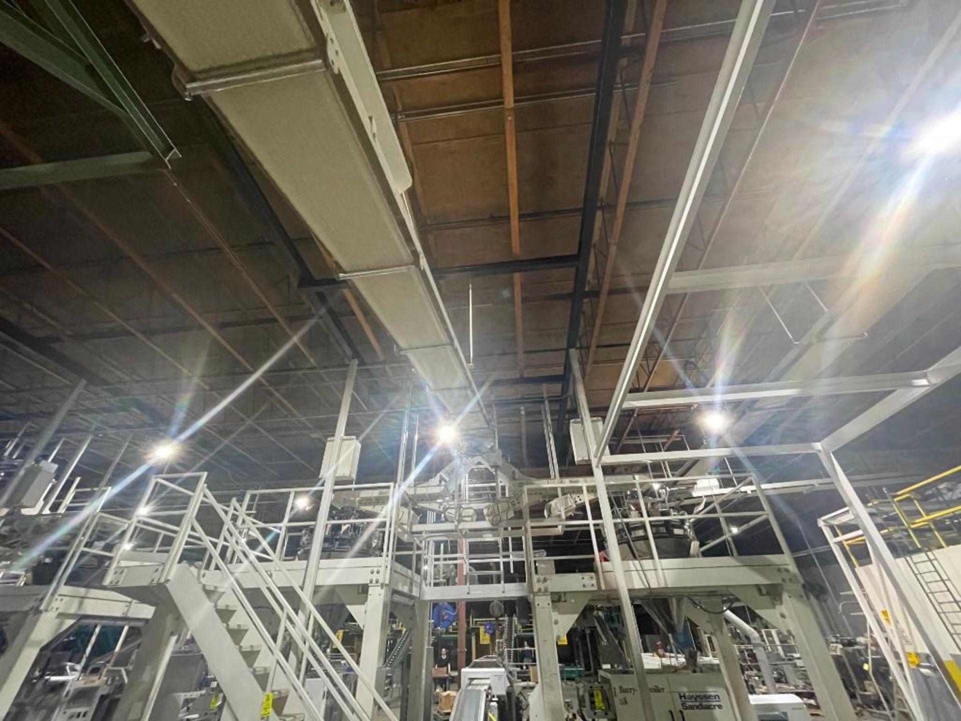 mild steel overhead belt conveyor - Image 3 of 8