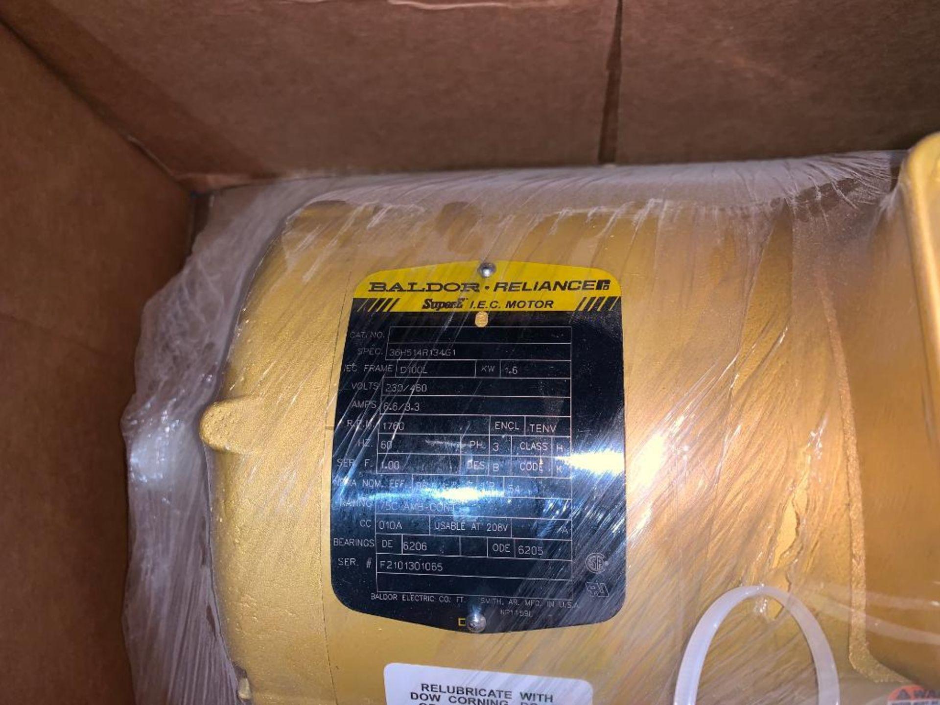 (3) unused Baldor electric motors - Image 3 of 7