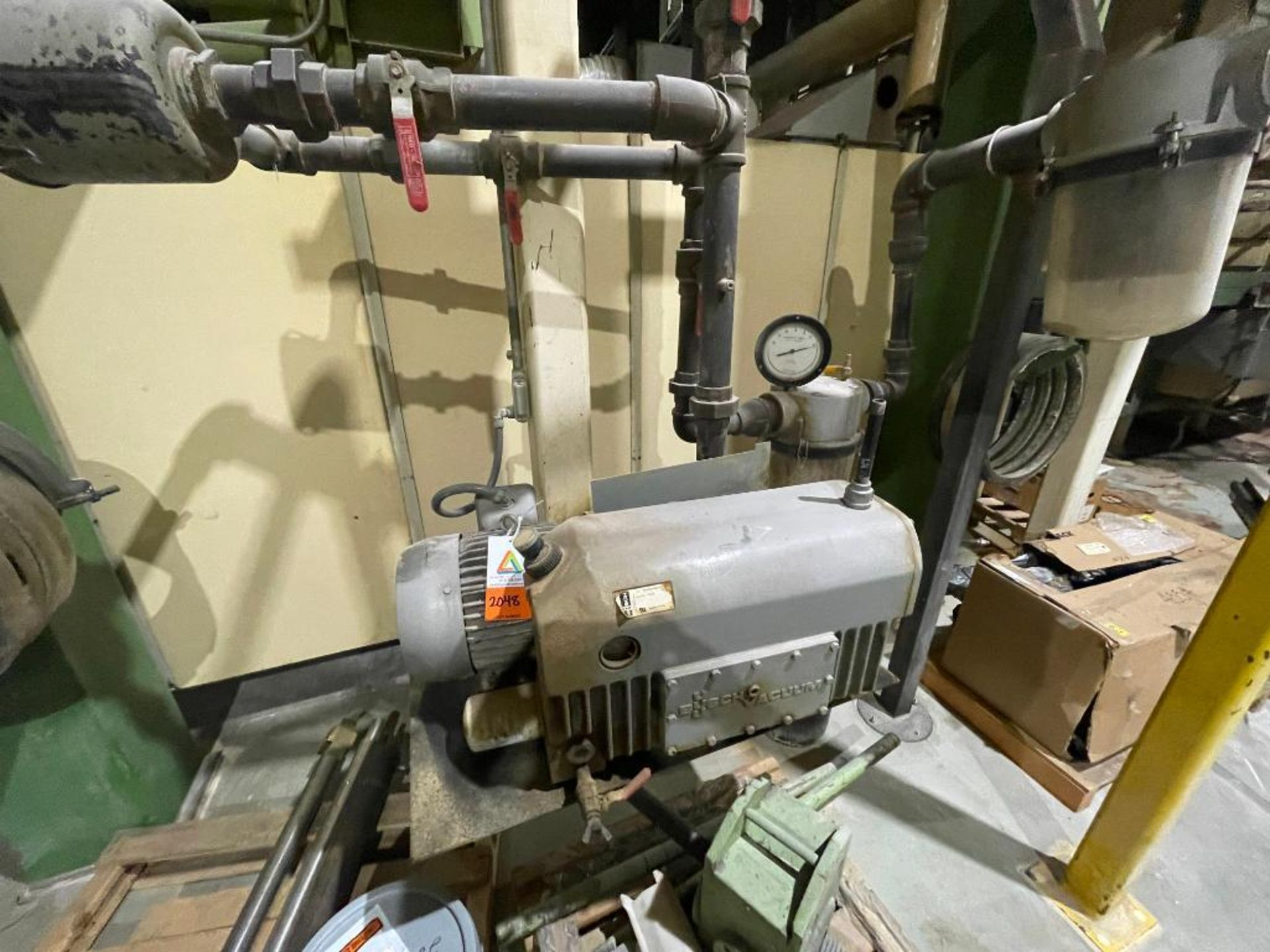 Busch single stage rotary vacuum pump - Image 4 of 14