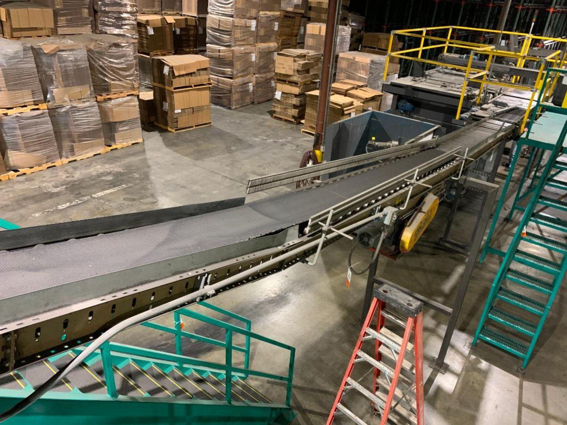 mild steel powered belt conveyor, decline - Image 2 of 14