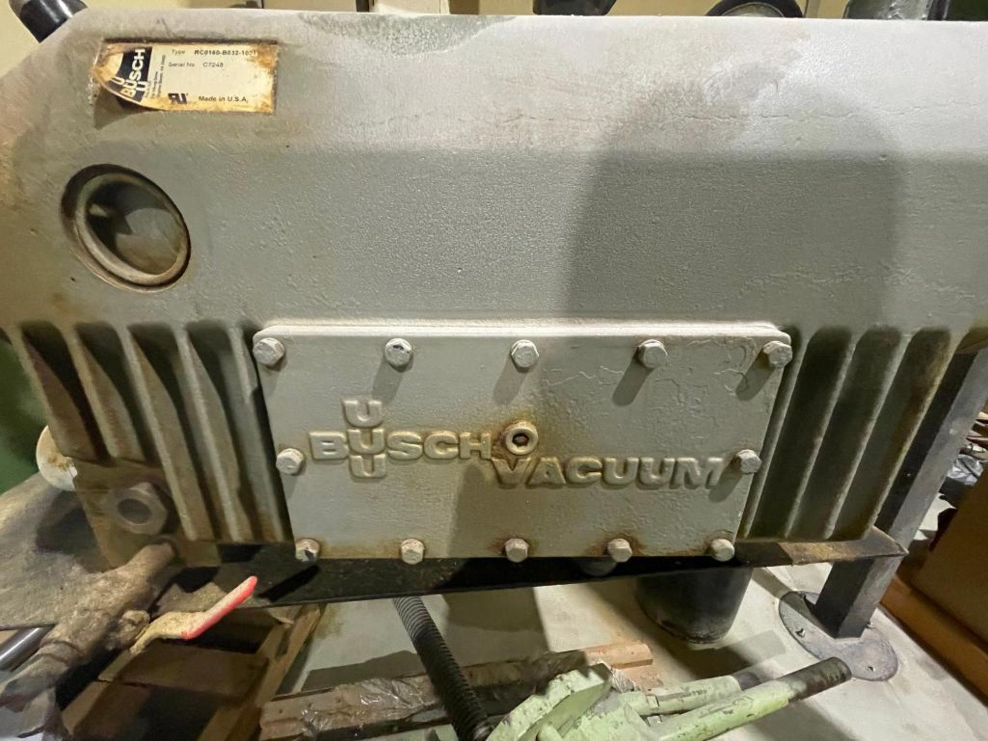 Busch single stage rotary vacuum pump - Image 2 of 14