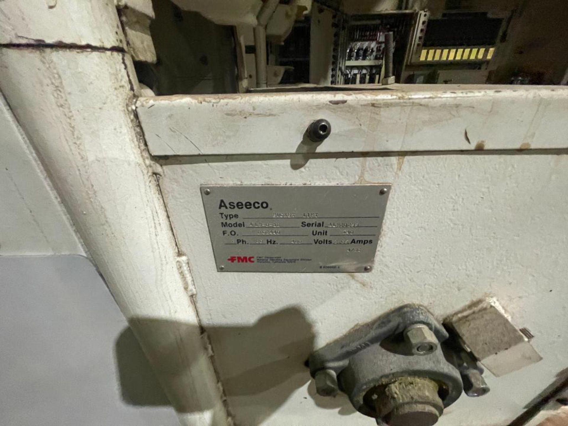 1992 Aseeco overlapping bucket incline conveyor, model ALH-0-12, Z-shape - Image 5 of 11