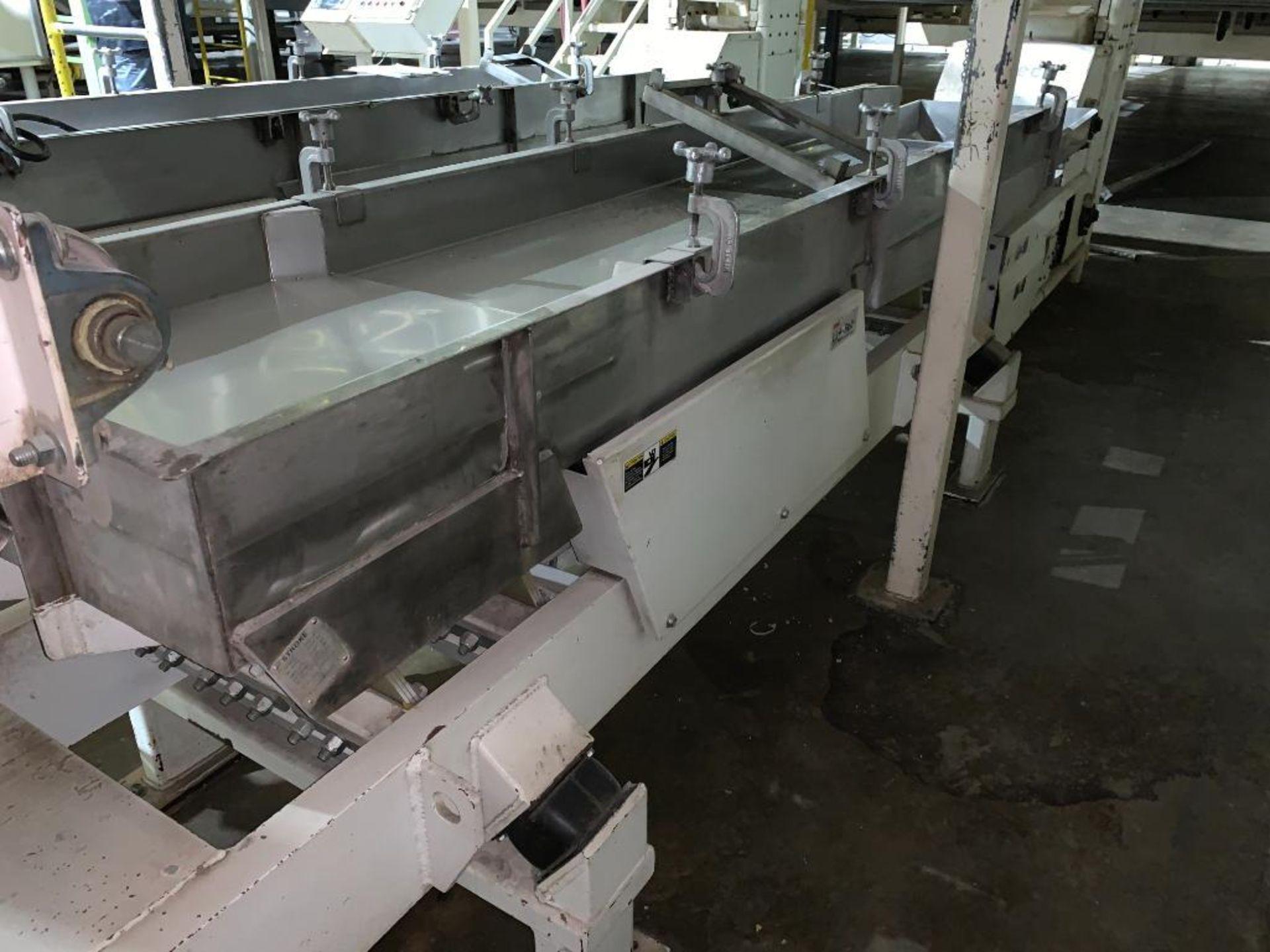 1993 Link-Belt stainless steel vibratory scalping conveyor