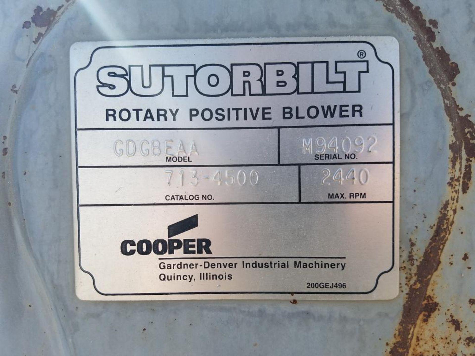Sutorbilt rotary positive blower - Image 5 of 7