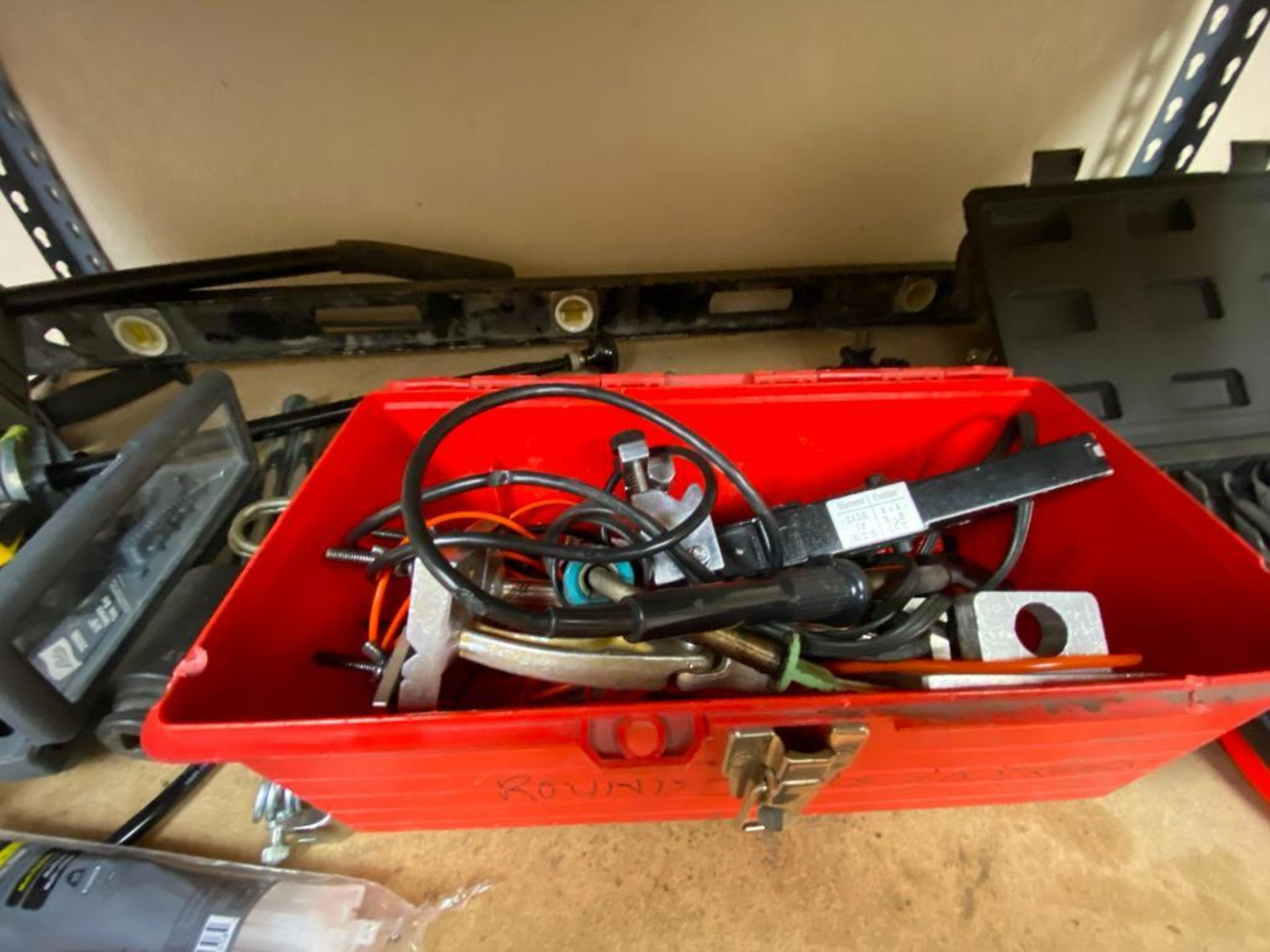 various tools includes bits, large wrenches, lockout tagout kit, grinder - Image 5 of 18