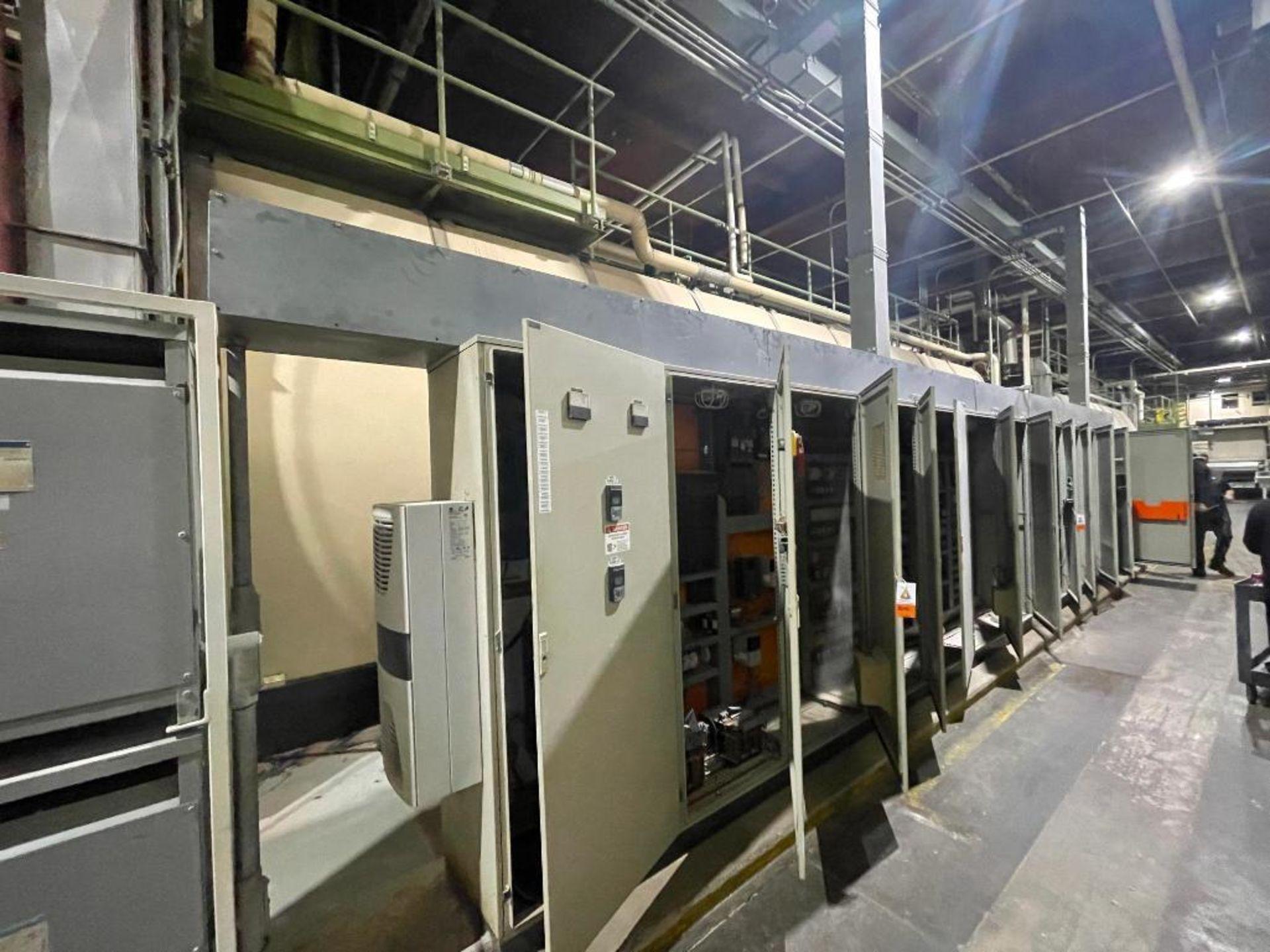 7-door mild steel air conditioned control cabinet, 5-VFD's
