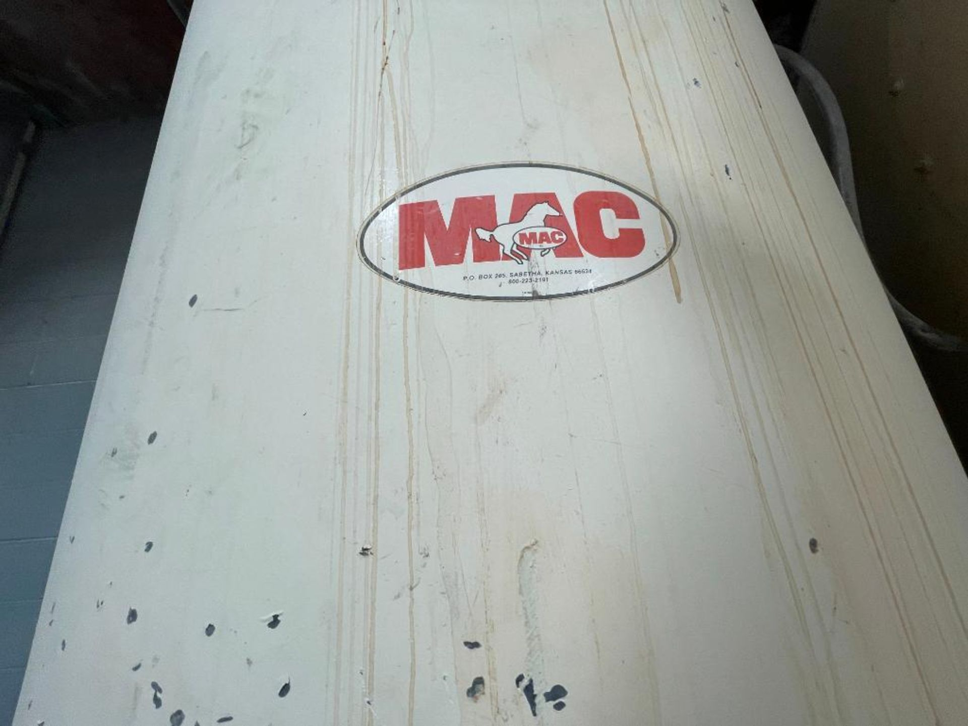 MAC mild steel cone bottom bin - Image 5 of 9