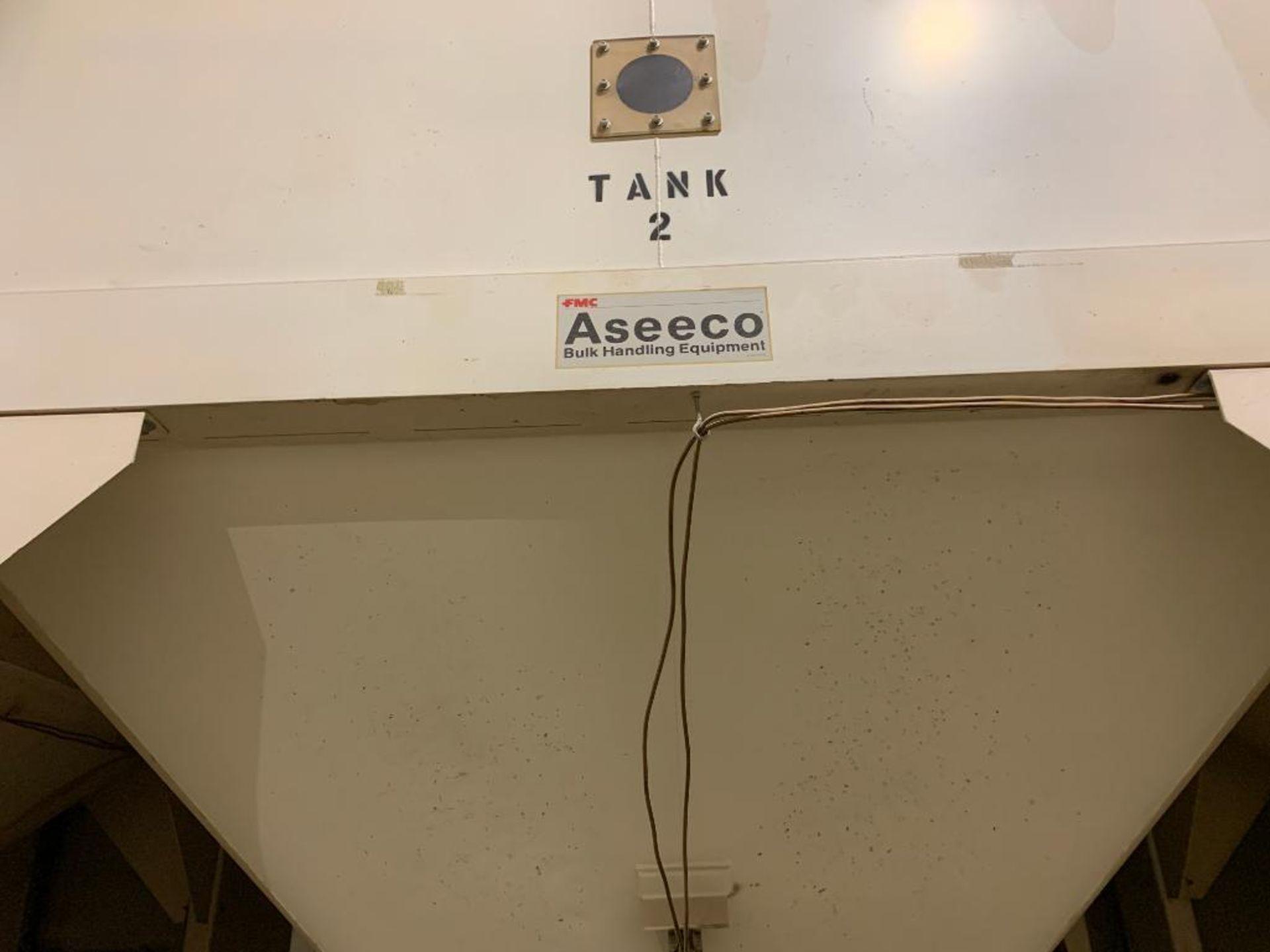 Aseeco mild steel cone bottom bulk storage bin - Image 4 of 25