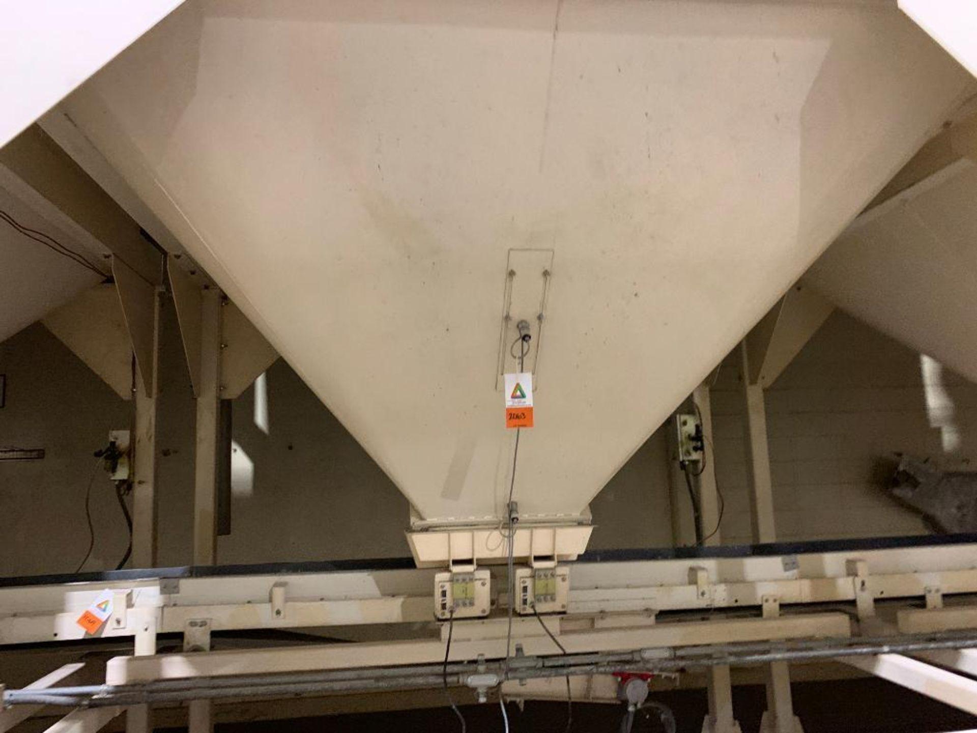 Aseeco mild steel cone bottom bulk storage bin - Image 2 of 27