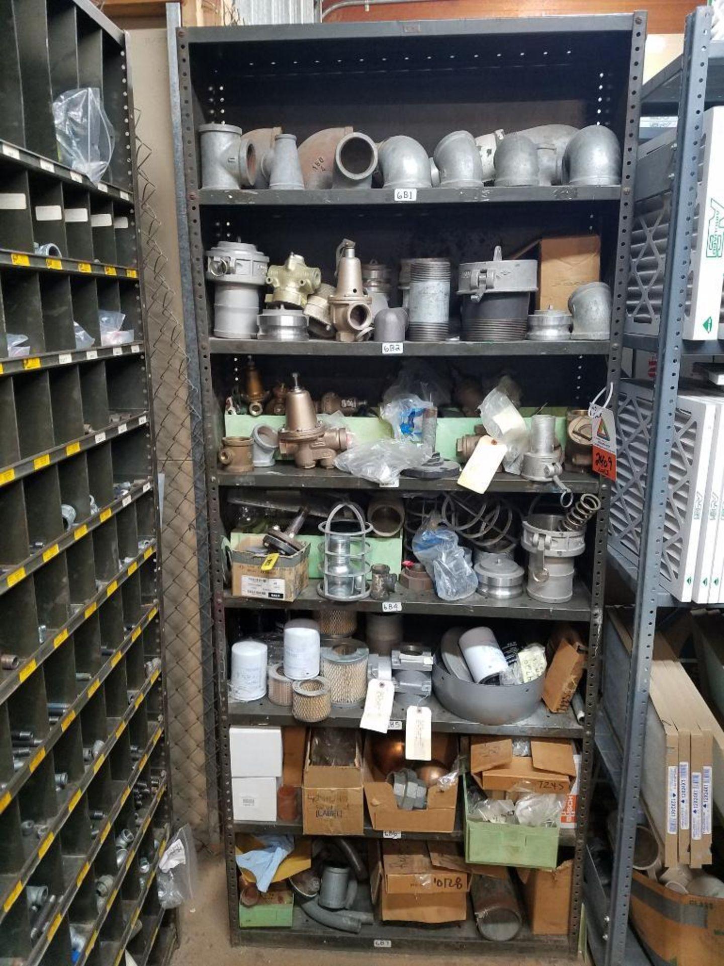 various fittings, threaded pipe, pressure regulators, and oil filters - Image 2 of 2