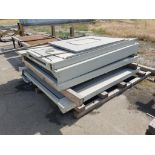 conveyors, forklift slip-sheet attachment, and machine doors