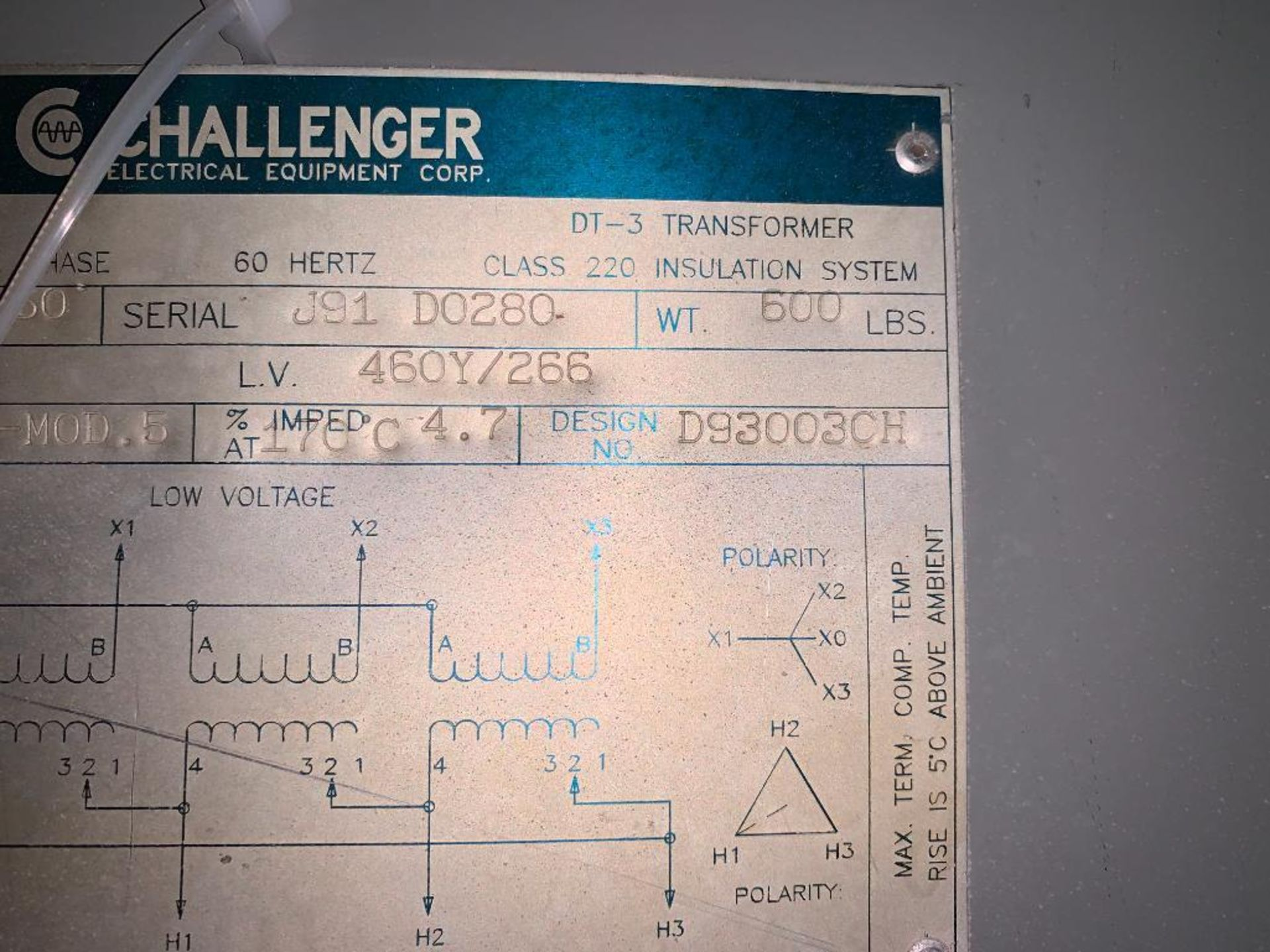 Challenger 93KVA transformer - Image 10 of 11