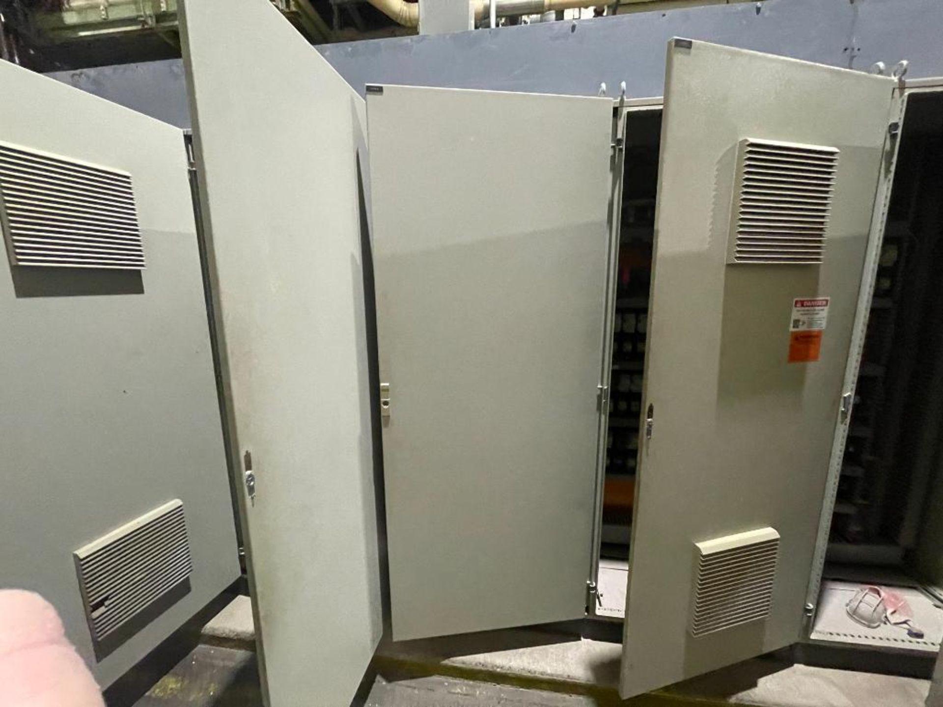 7-door mild steel air conditioned control cabinet, 5-VFD's - Image 28 of 43