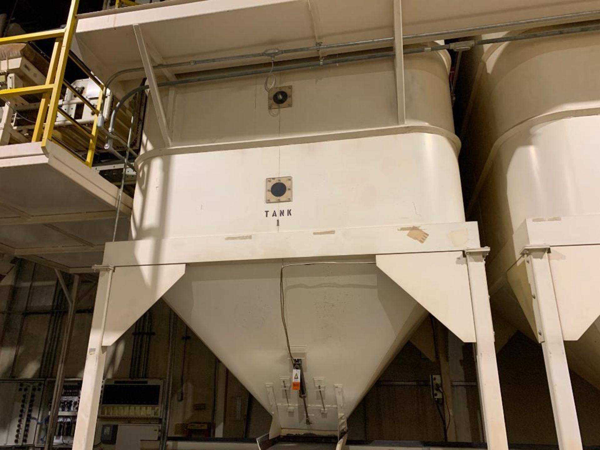 Aseeco mild steel cone bottom bulk storage bin