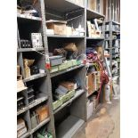 various electrical components, shelving not included