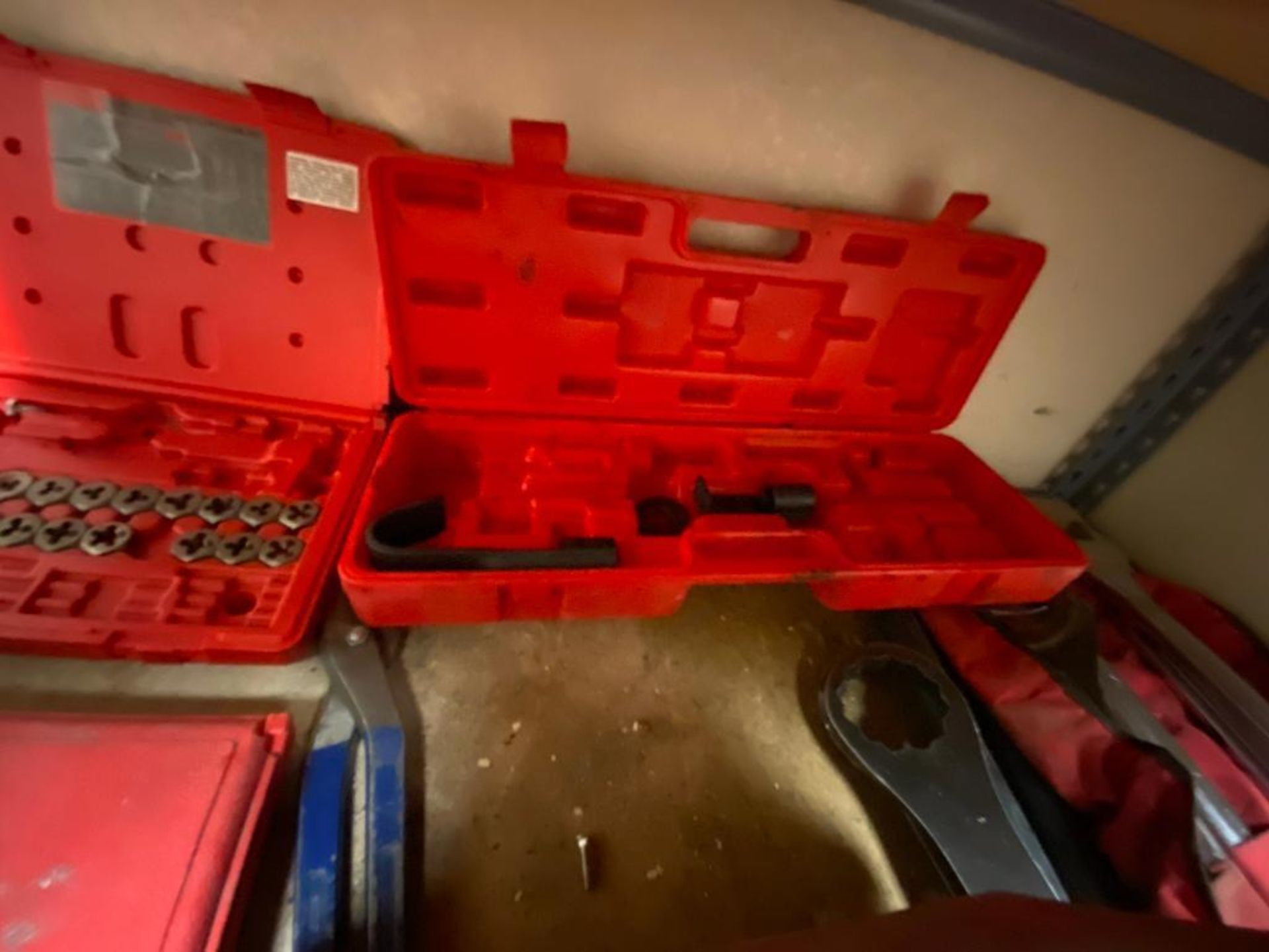 various tools includes bits, large wrenches, lockout tagout kit, grinder - Image 16 of 18