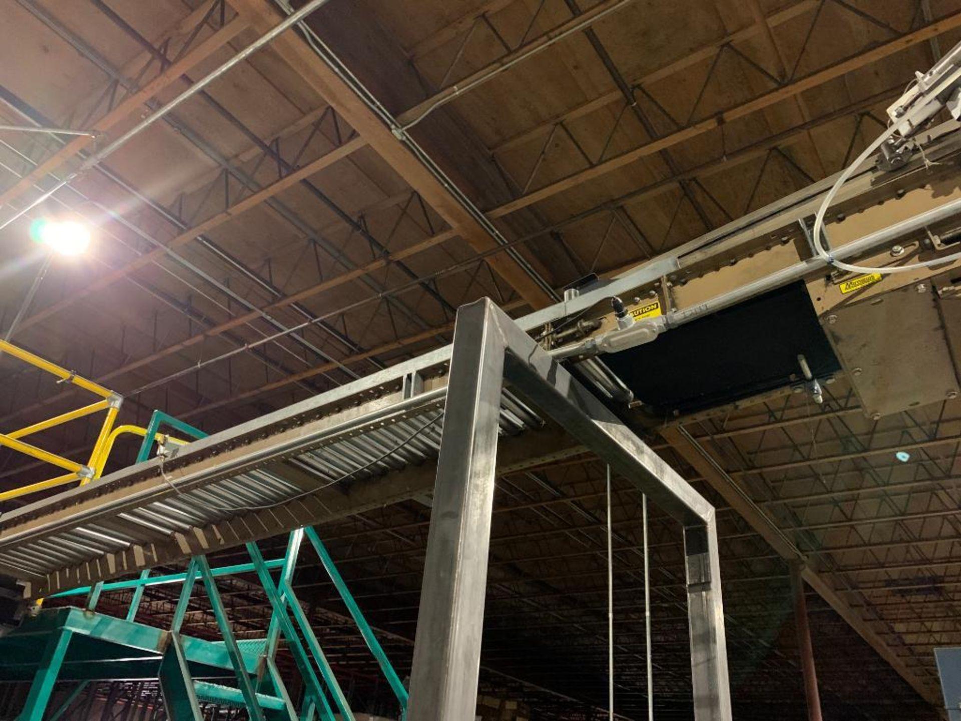 mild steel powered belt conveyor, decline - Image 13 of 14