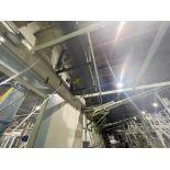 270 ft. of mild steel power roller and power belt overhead conveyor