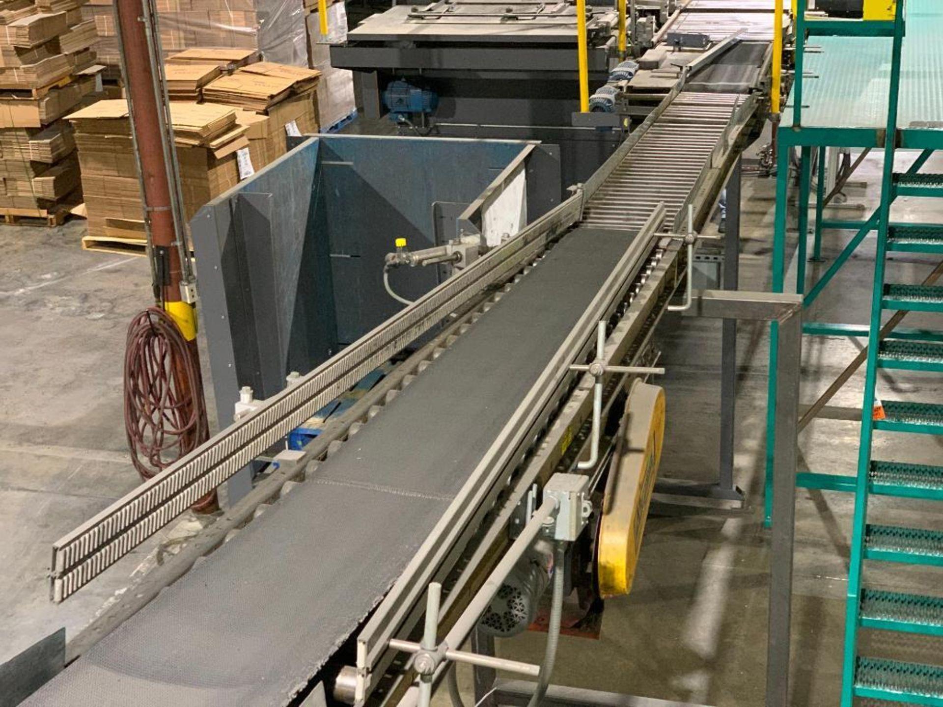 mild steel powered belt conveyor, decline - Image 3 of 14