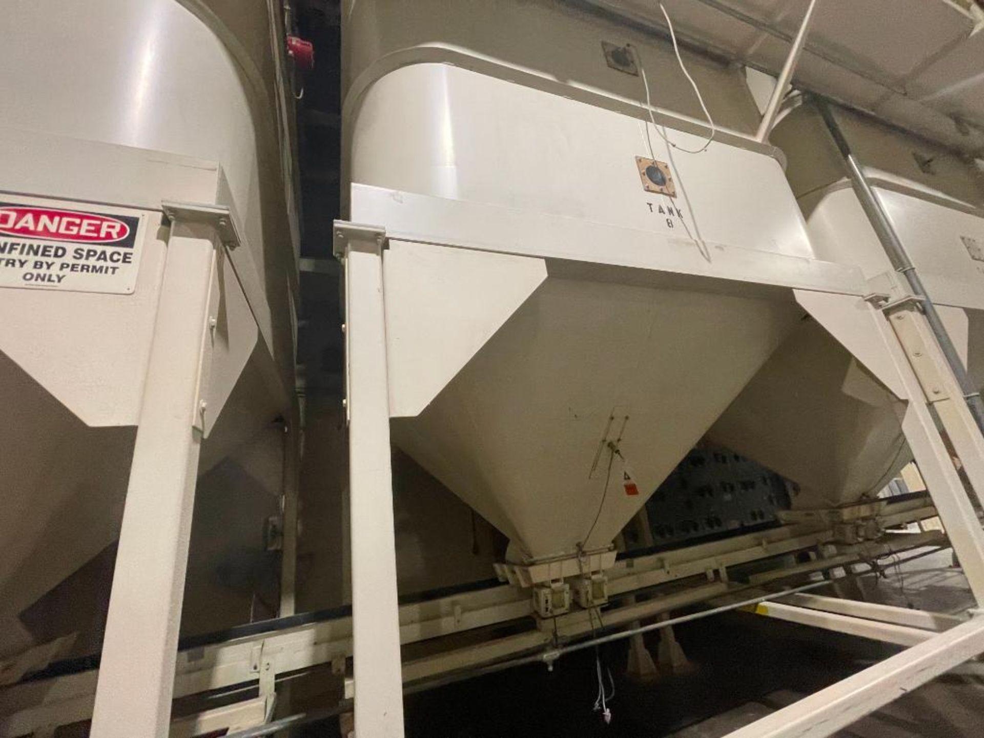 Aseeco mild steel cone bottom bulk storage bin - Image 9 of 28