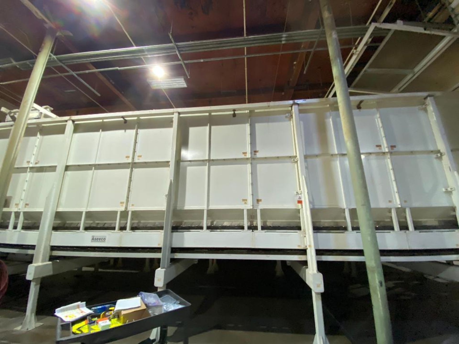 Aseeco bulk accumulation bin