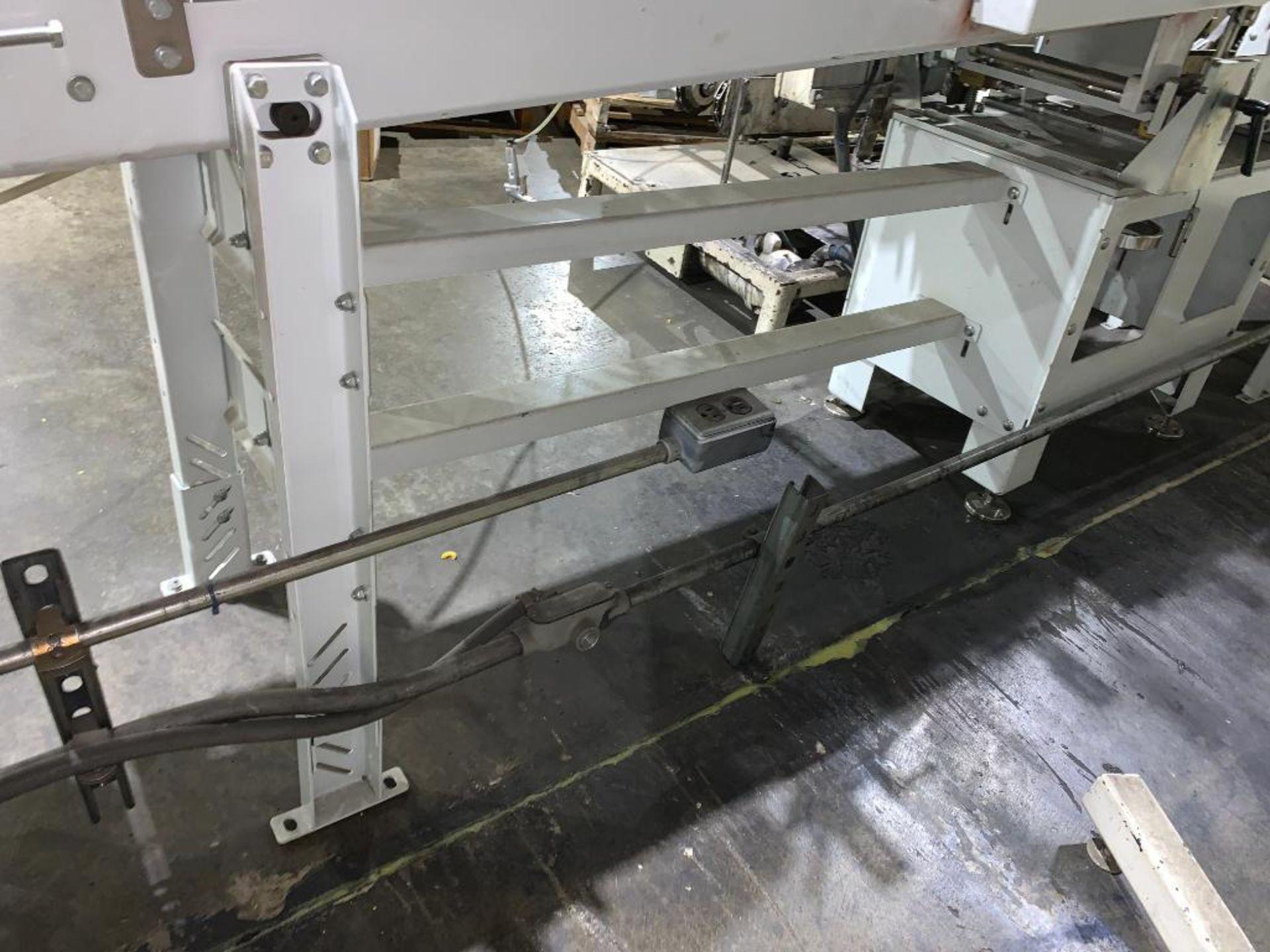mild steel belt conveyor, 68 in. x 10 in., with box conditioner - Image 6 of 13