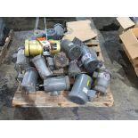 pallet of various used motors