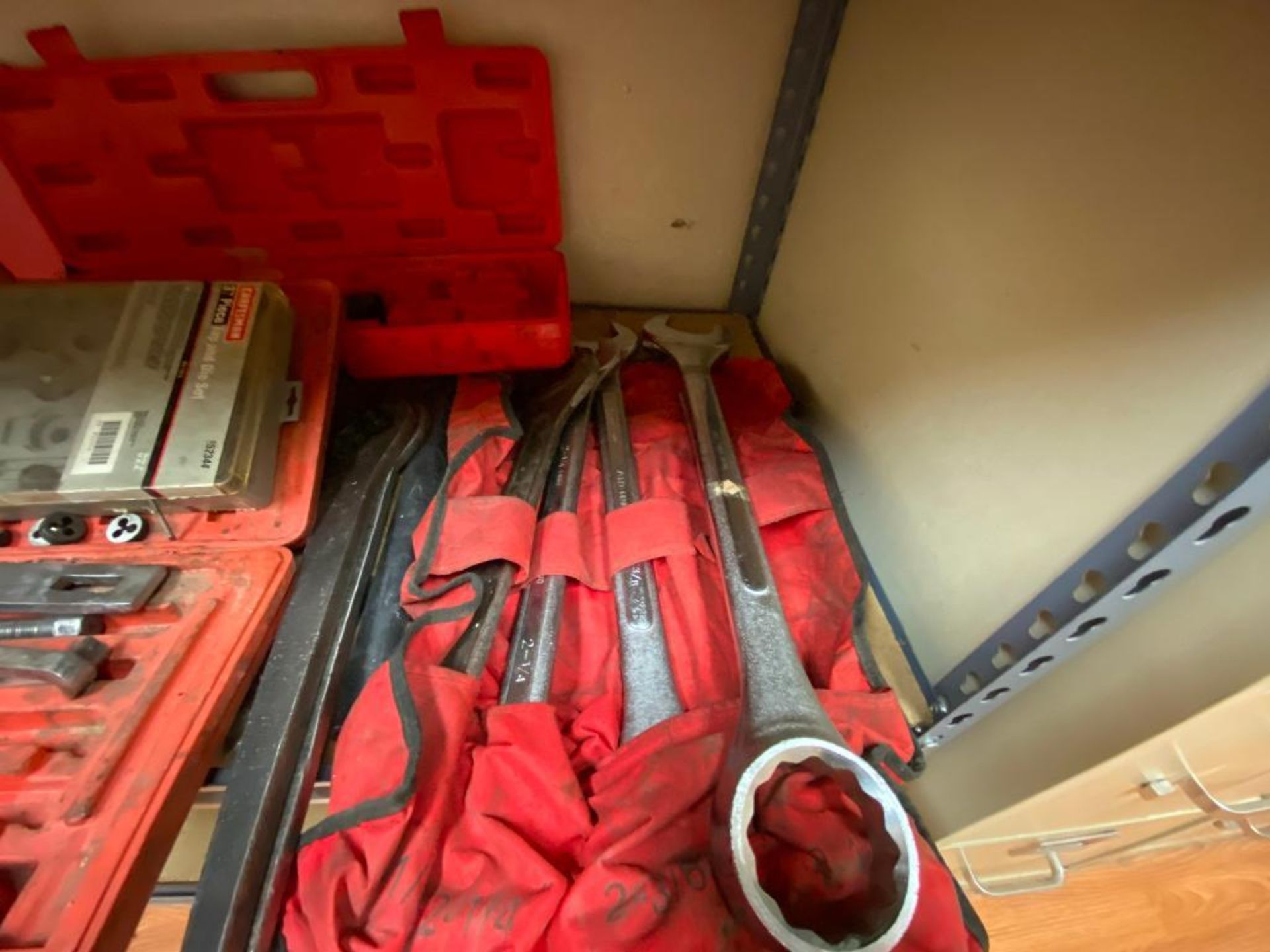 various tools includes bits, large wrenches, lockout tagout kit, grinder - Image 17 of 18