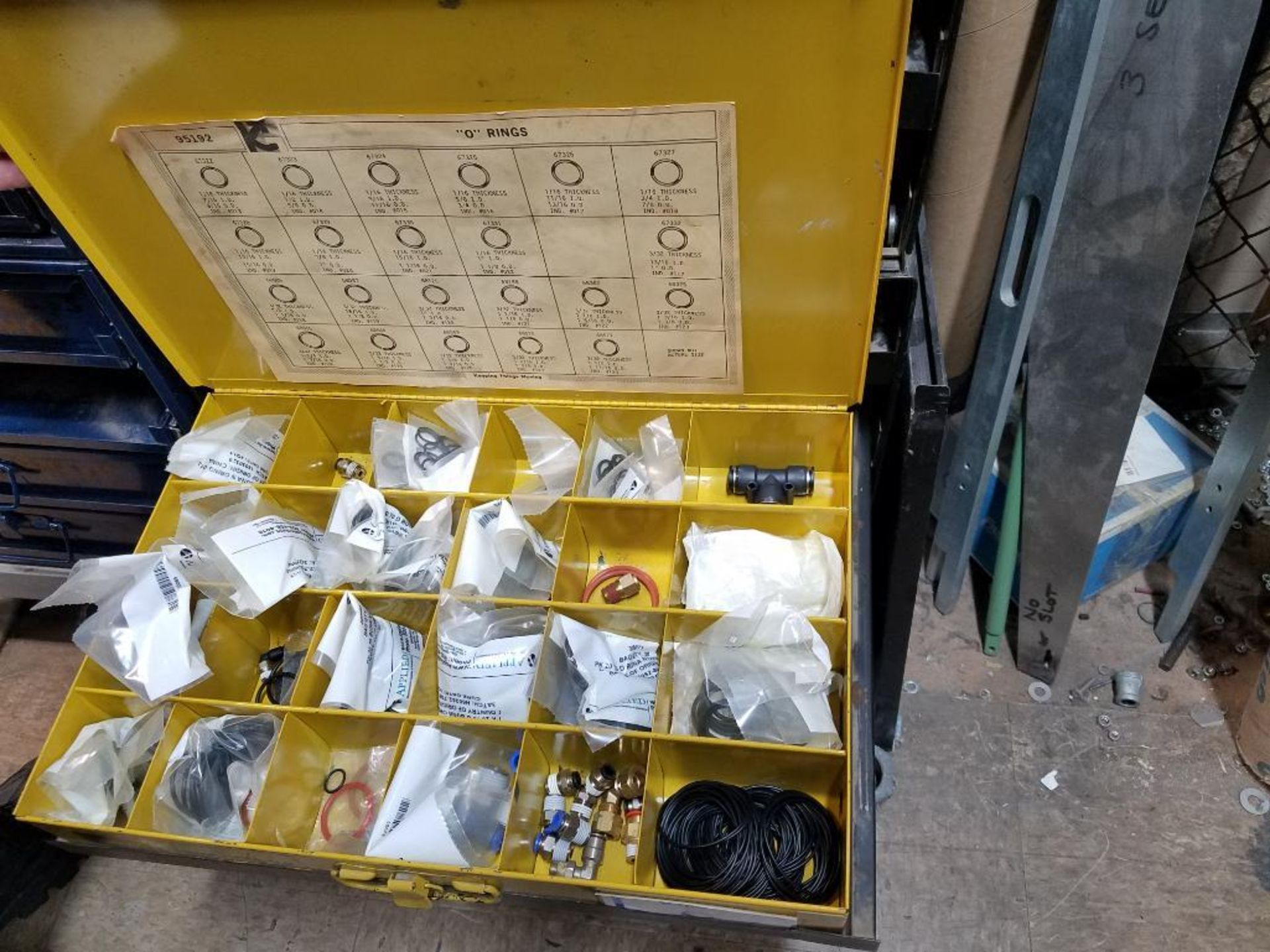tek screws, roll and taper pins, electrical terminals, set screws, O-rings, brass poly fittings - Image 5 of 29