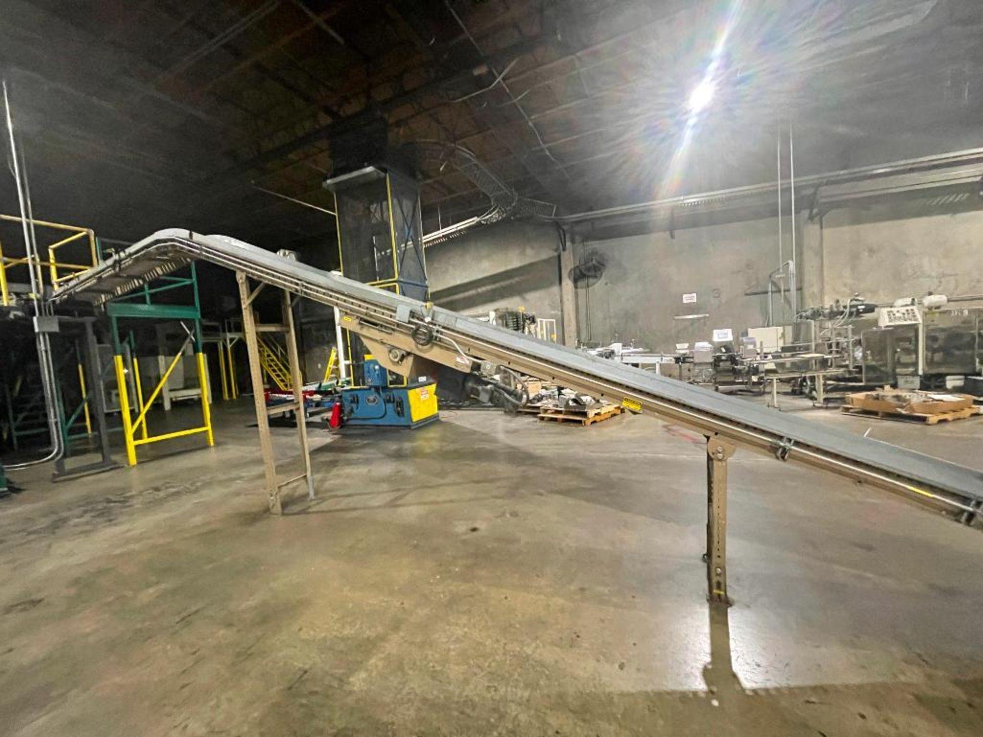 Mathews mild steel incline conveyor - Image 2 of 10