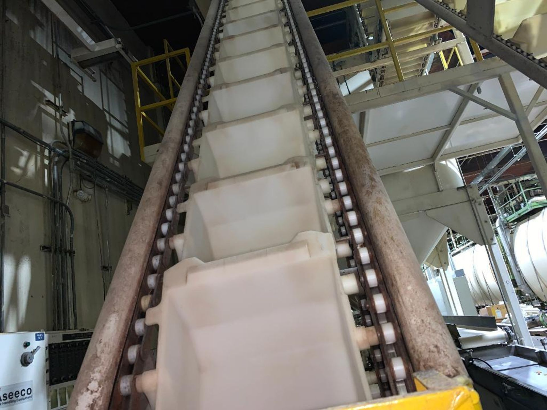 1992 Aseeco overlapping bucket incline conveyor, model ALH-0-12, Z-shape - Image 9 of 14