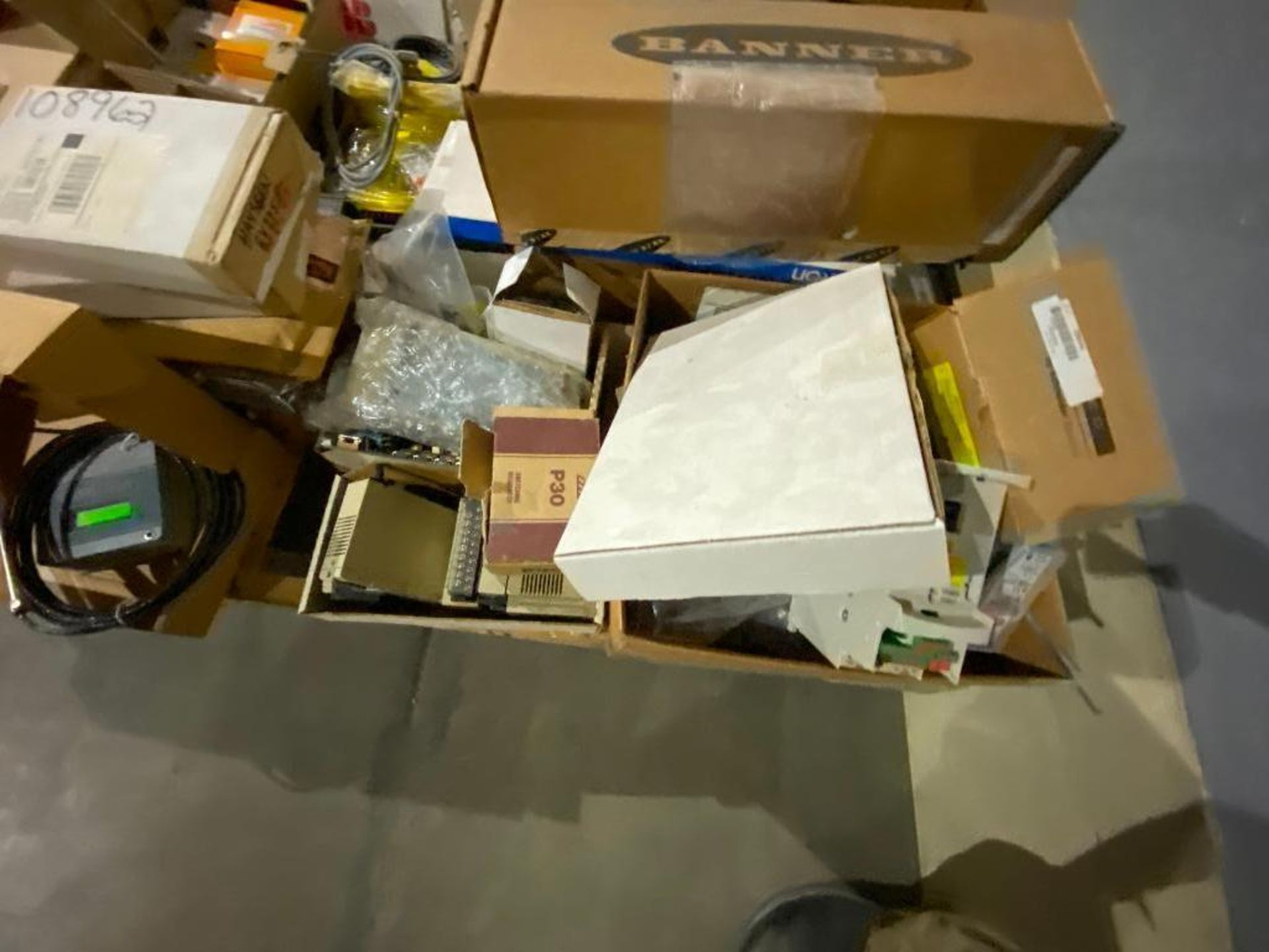pallet of ABB parts, controllers, cabinets, and control boards - Image 7 of 8