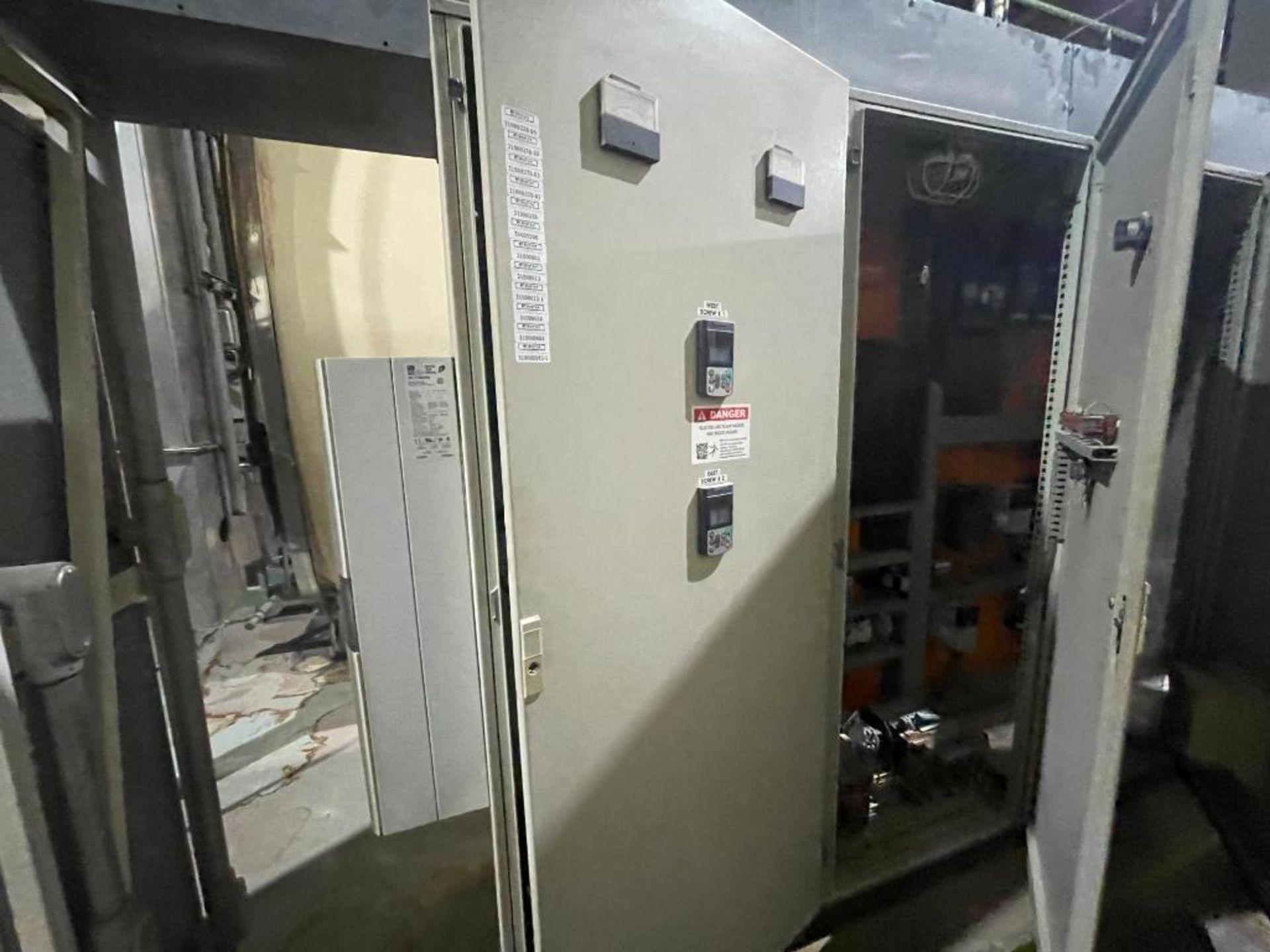 7-door mild steel air conditioned control cabinet, 5-VFD's - Image 4 of 43